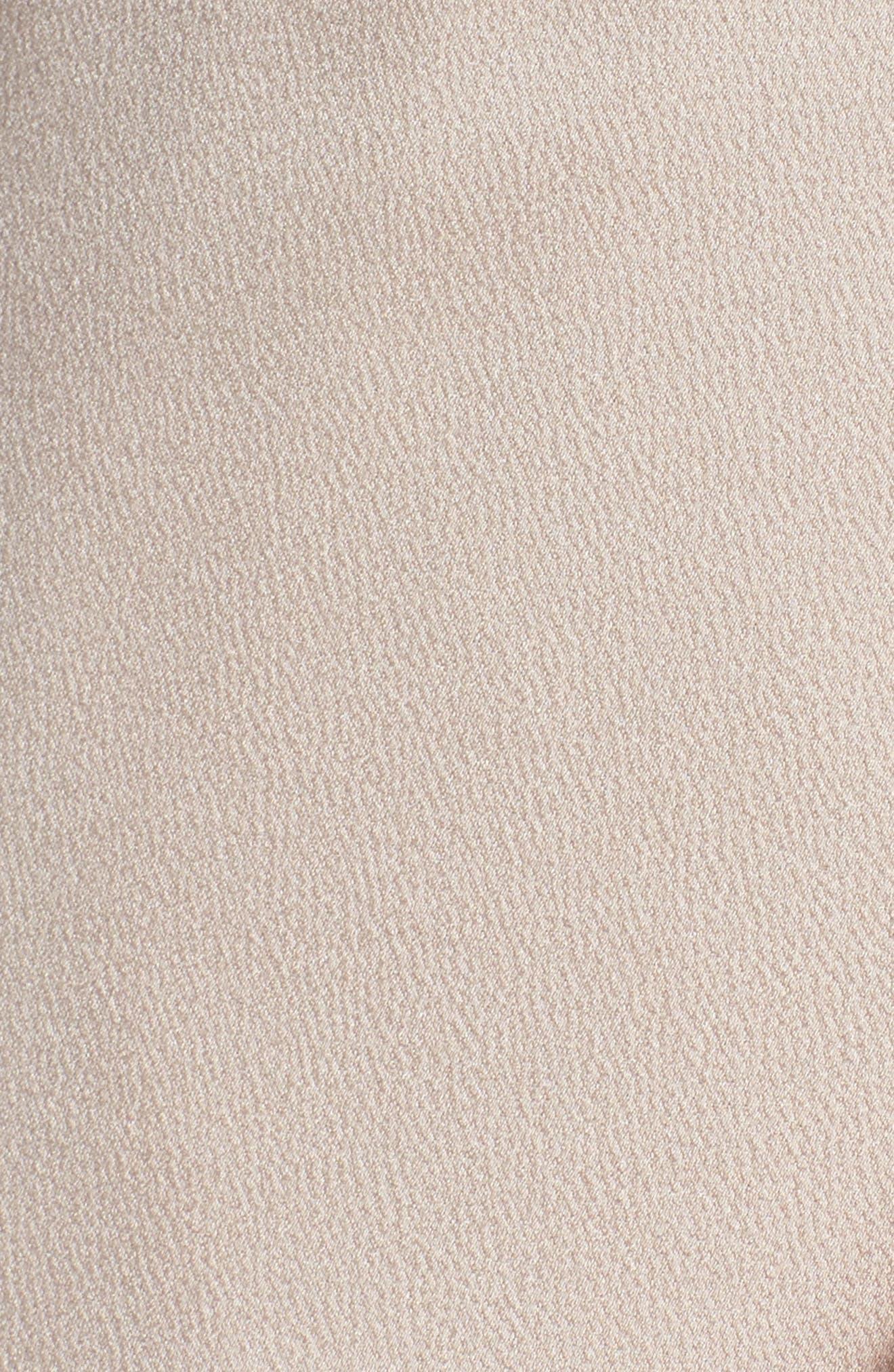 Luxe Asymmetrical Frill Maxi Dress,                             Alternate thumbnail 10, color,                             Porcelain
