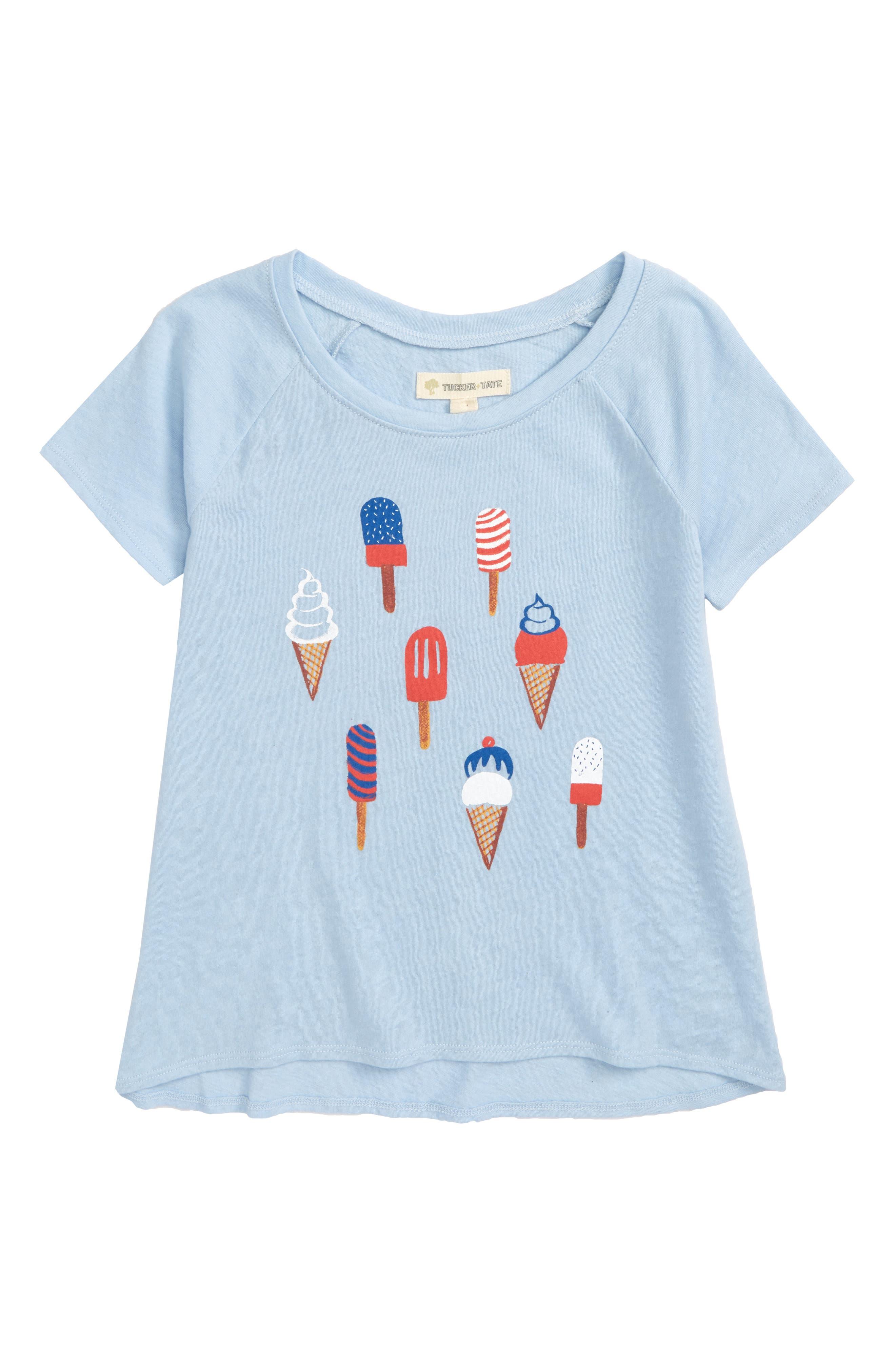 Graphic Tee,                         Main,                         color, Blue Thread Ice Cream