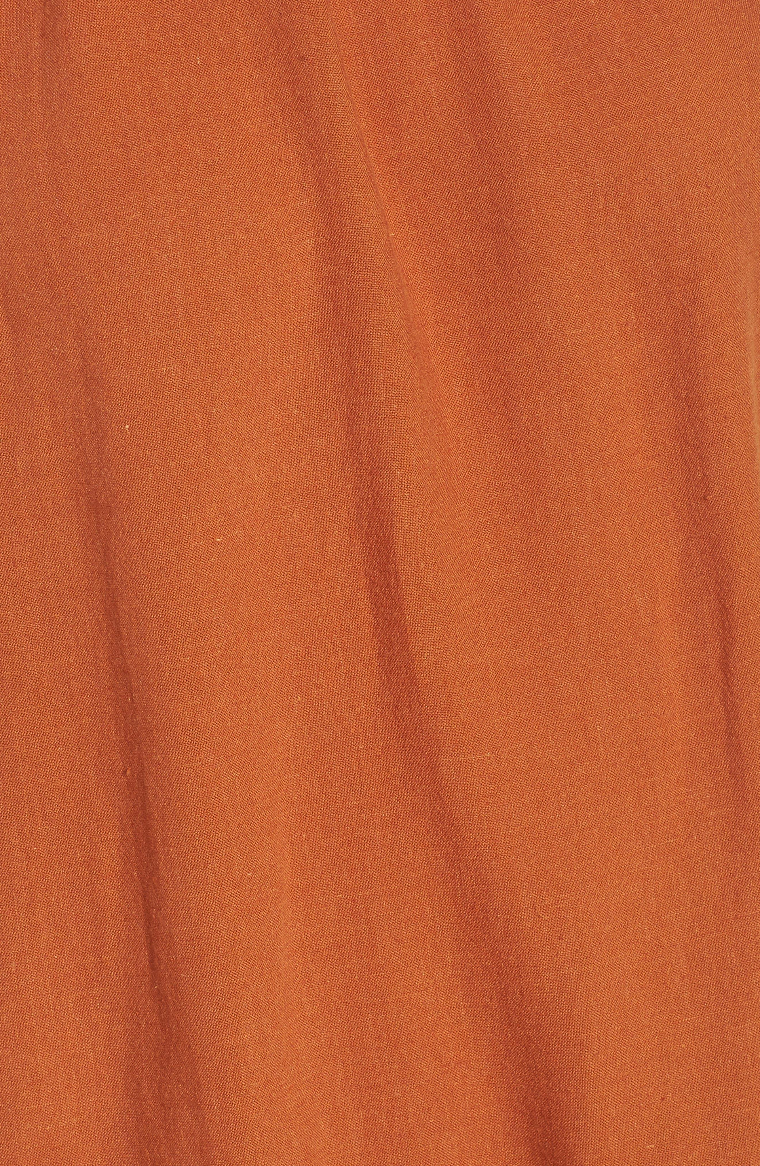 Asymmetrical Peplum Tank,                             Alternate thumbnail 6, color,                             Tan Adobe Cross Dye