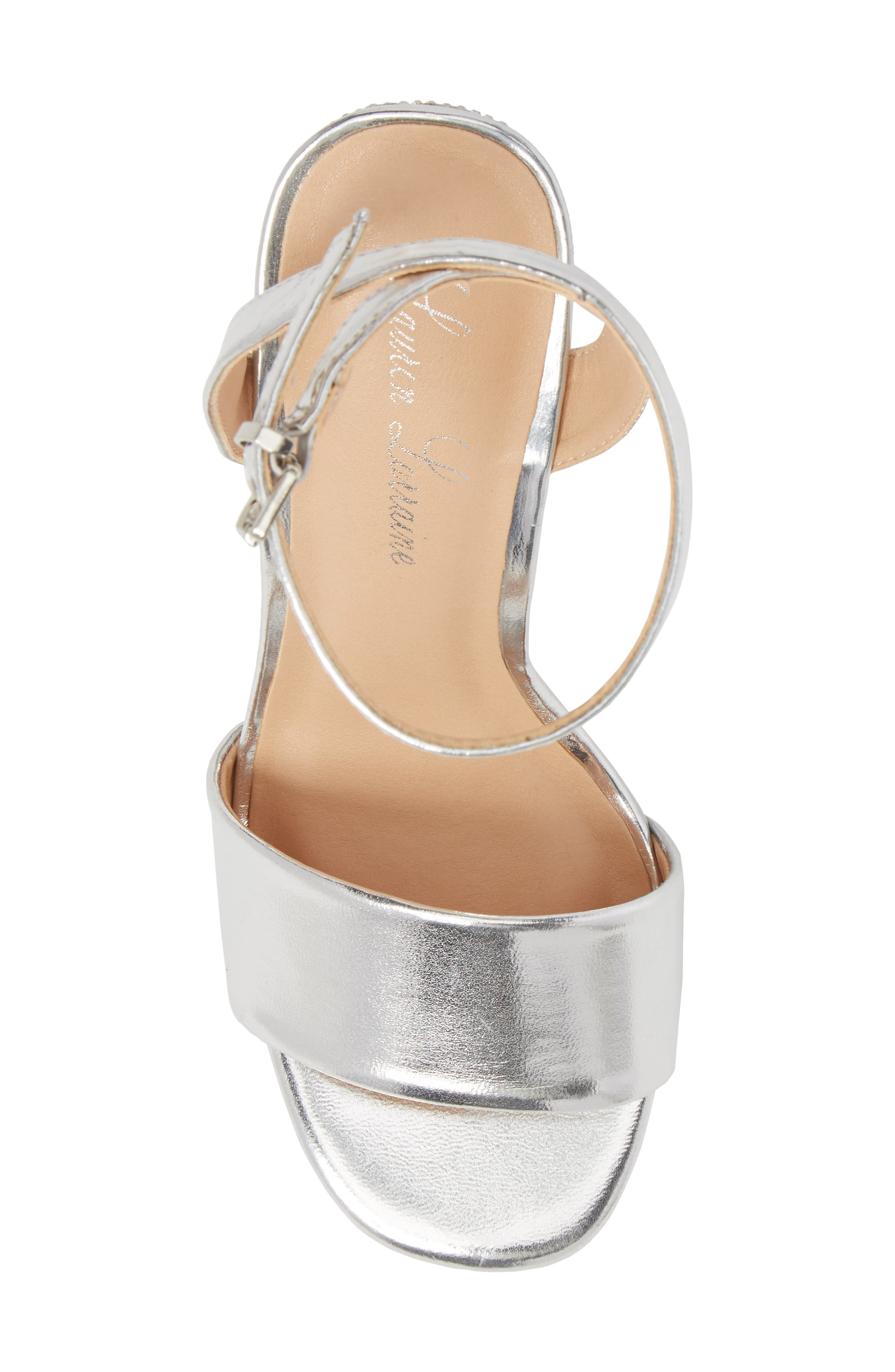 Julia Sandal,                             Alternate thumbnail 5, color,                             Silver Faux Leather