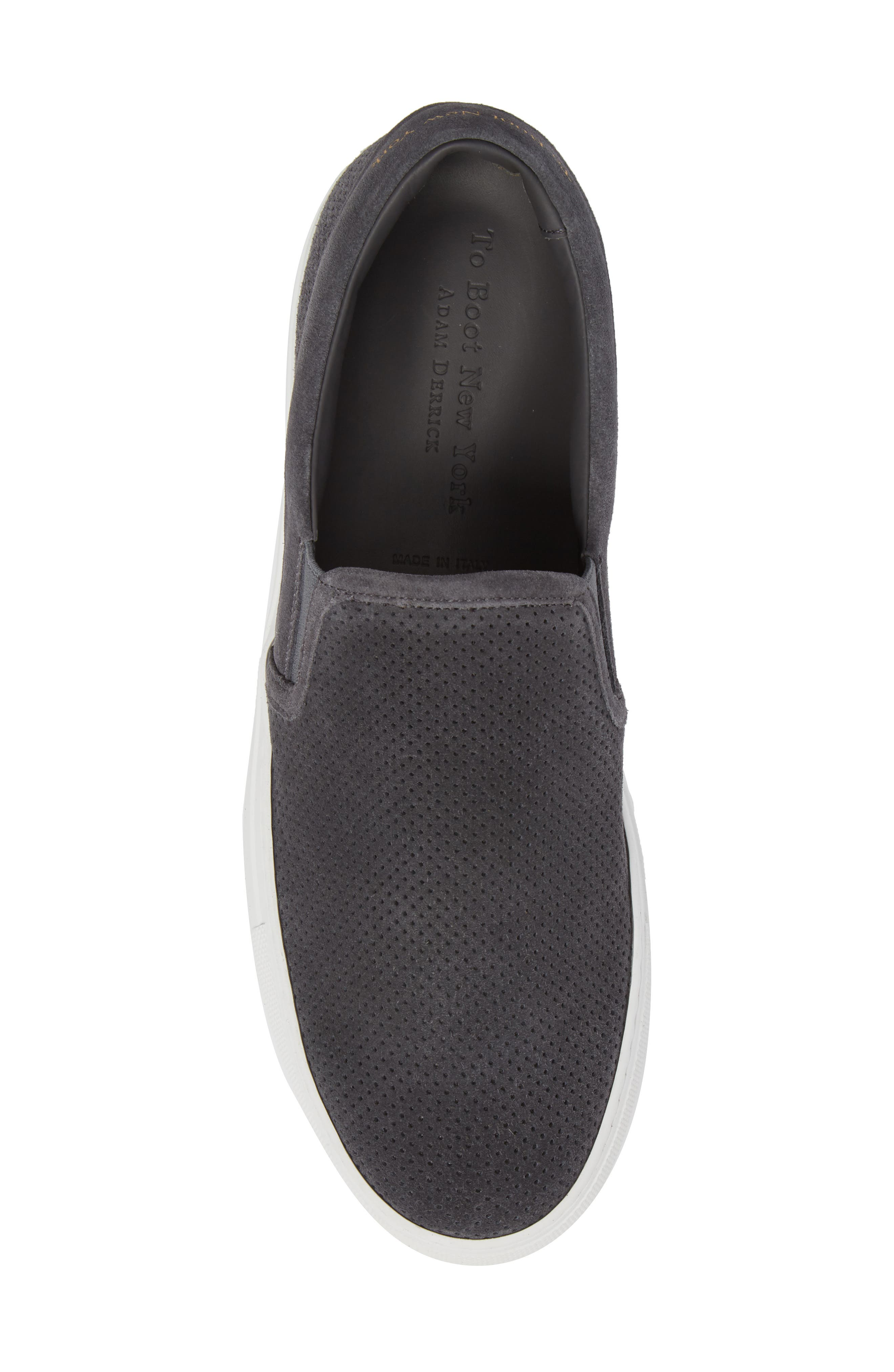 Buelton Perforated Slip-On Sneaker,                             Alternate thumbnail 5, color,                             Avion/ Tan Suede