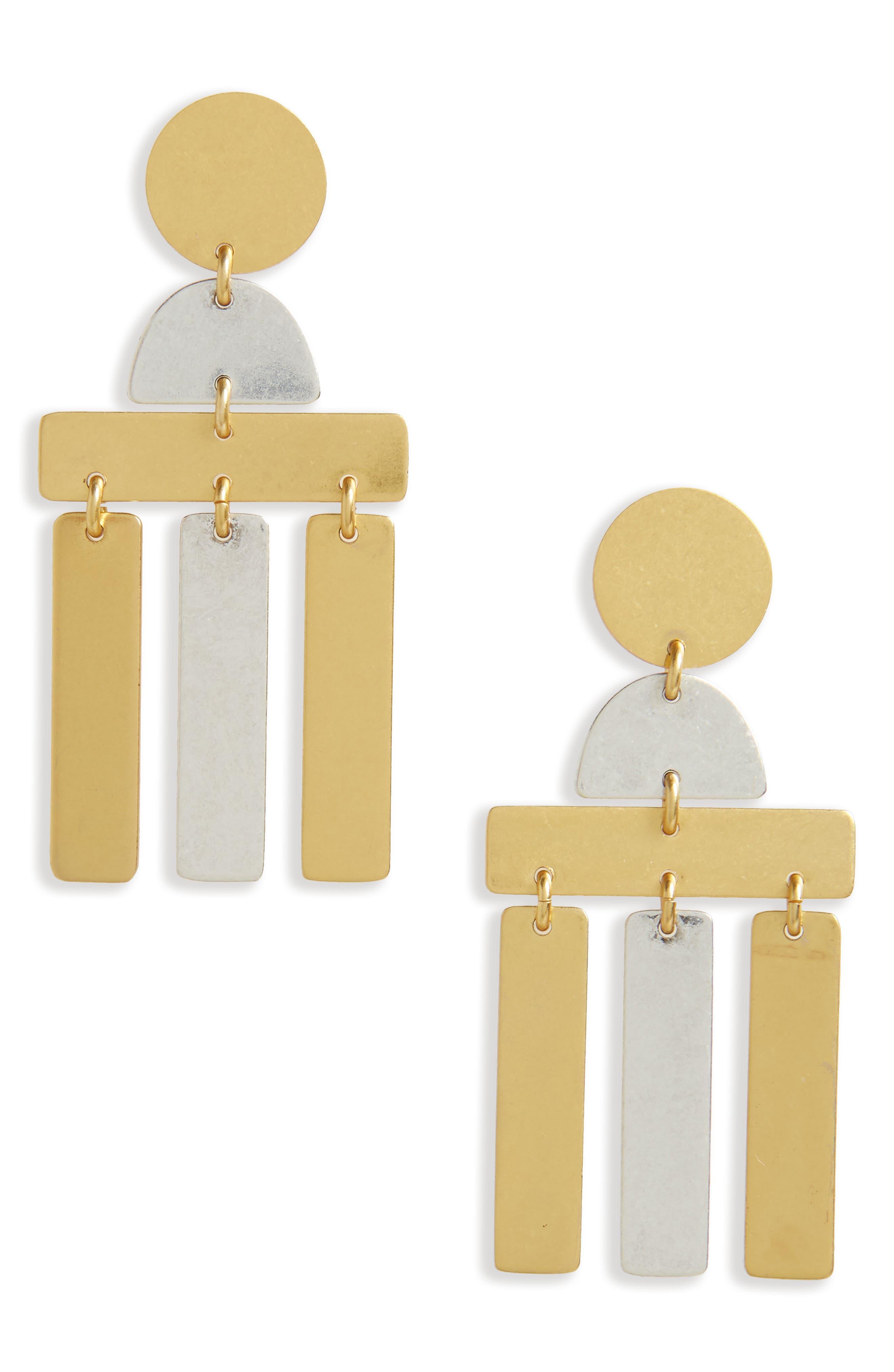 Alternate Image 1 Selected - Madewell Flatform Statement Earrings