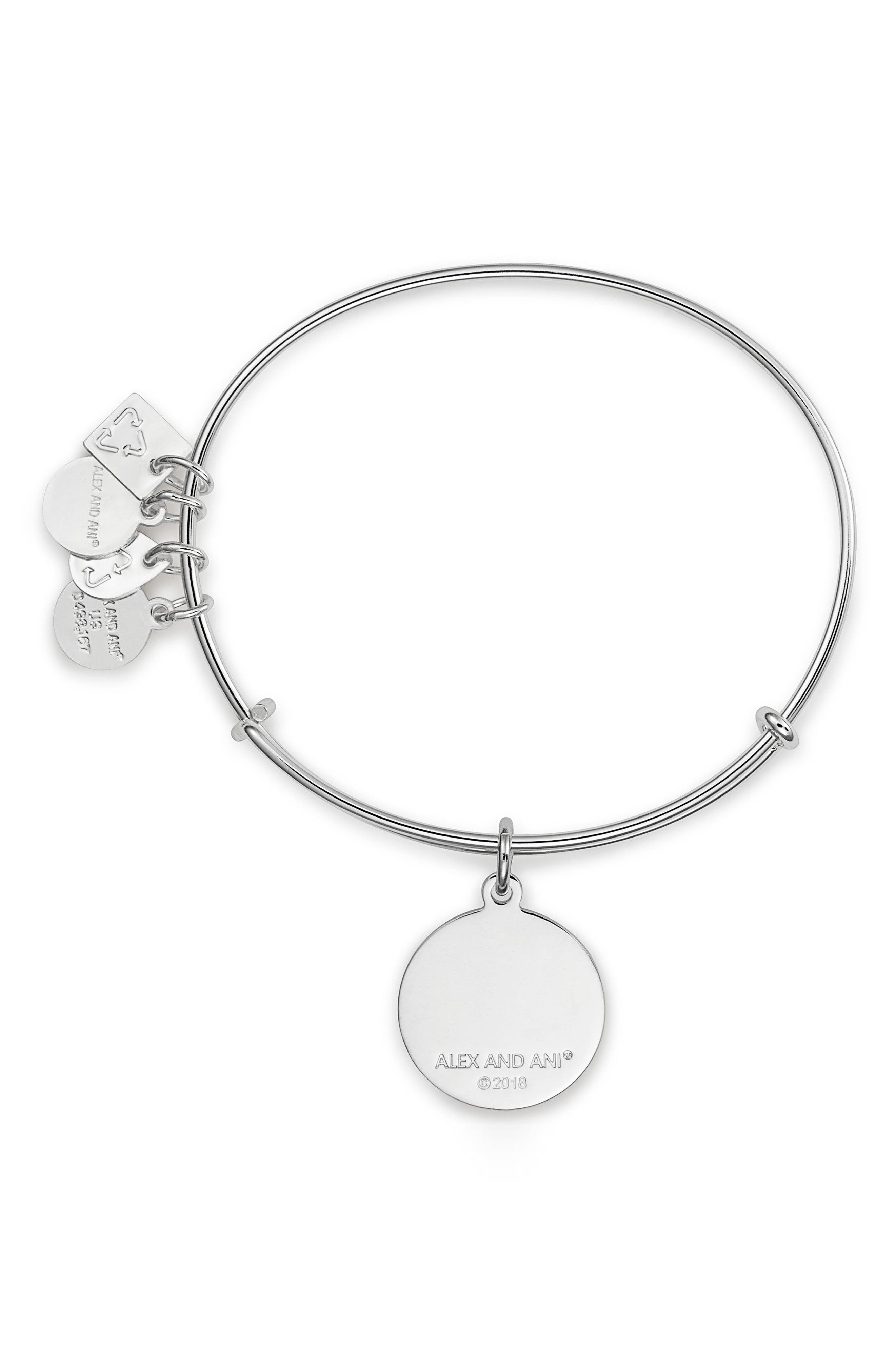 Be Yourself Bangle,                             Alternate thumbnail 2, color,                             Silver