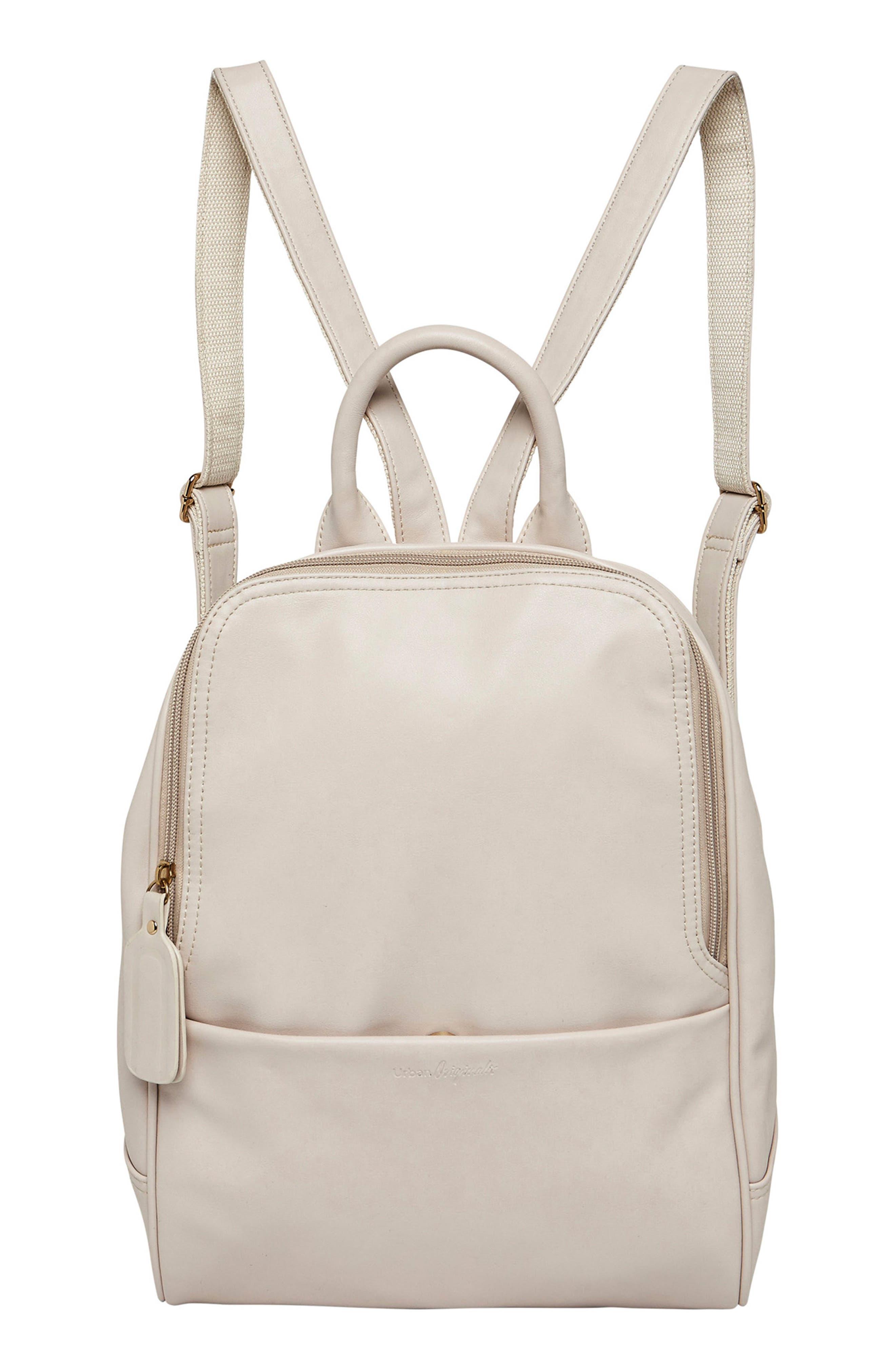 Evolution Vegan Leather Backpack,                             Main thumbnail 1, color,                             White