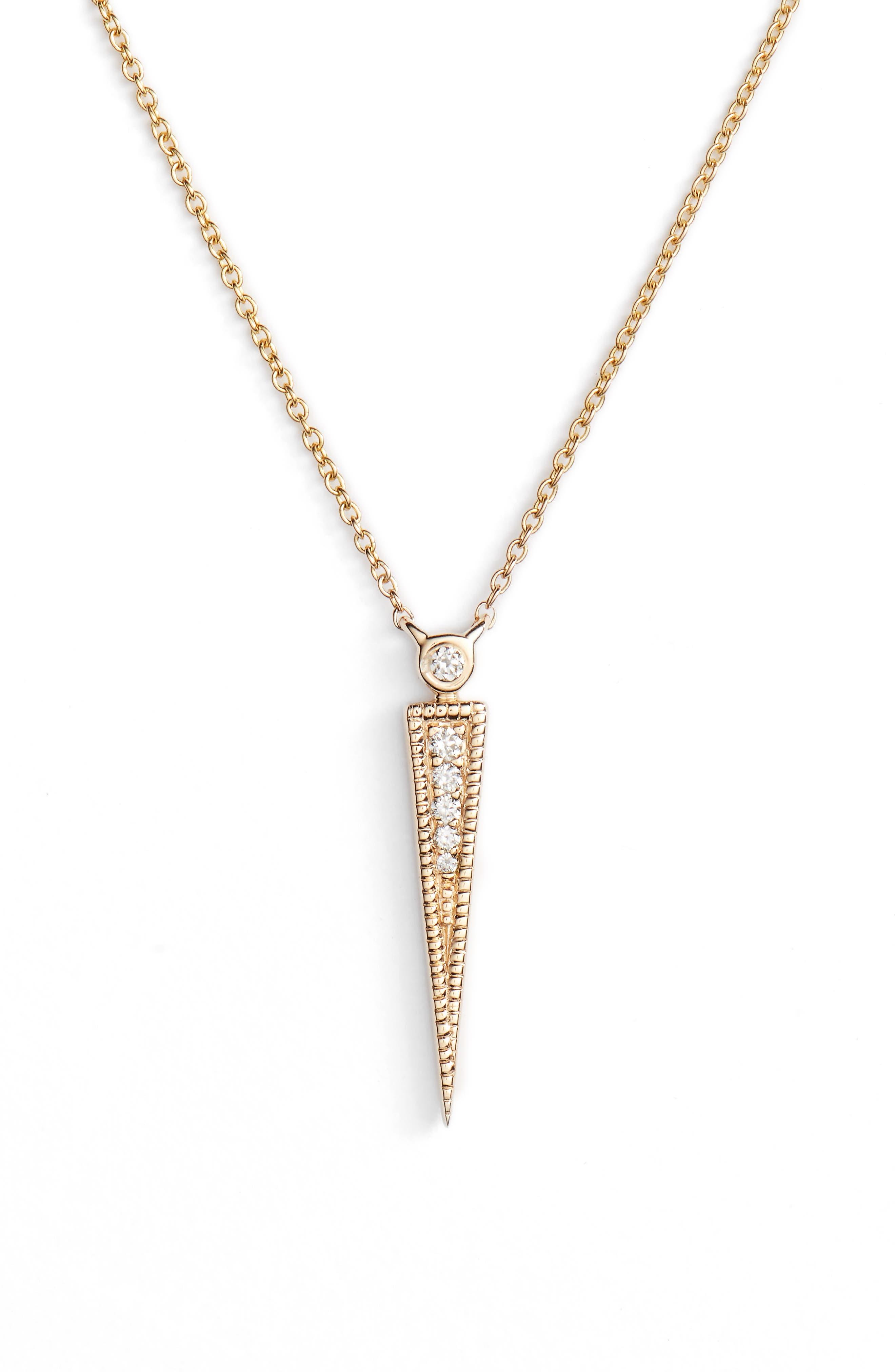 Dana Rebecca Samantha Lynn Diamond Dagger Necklace