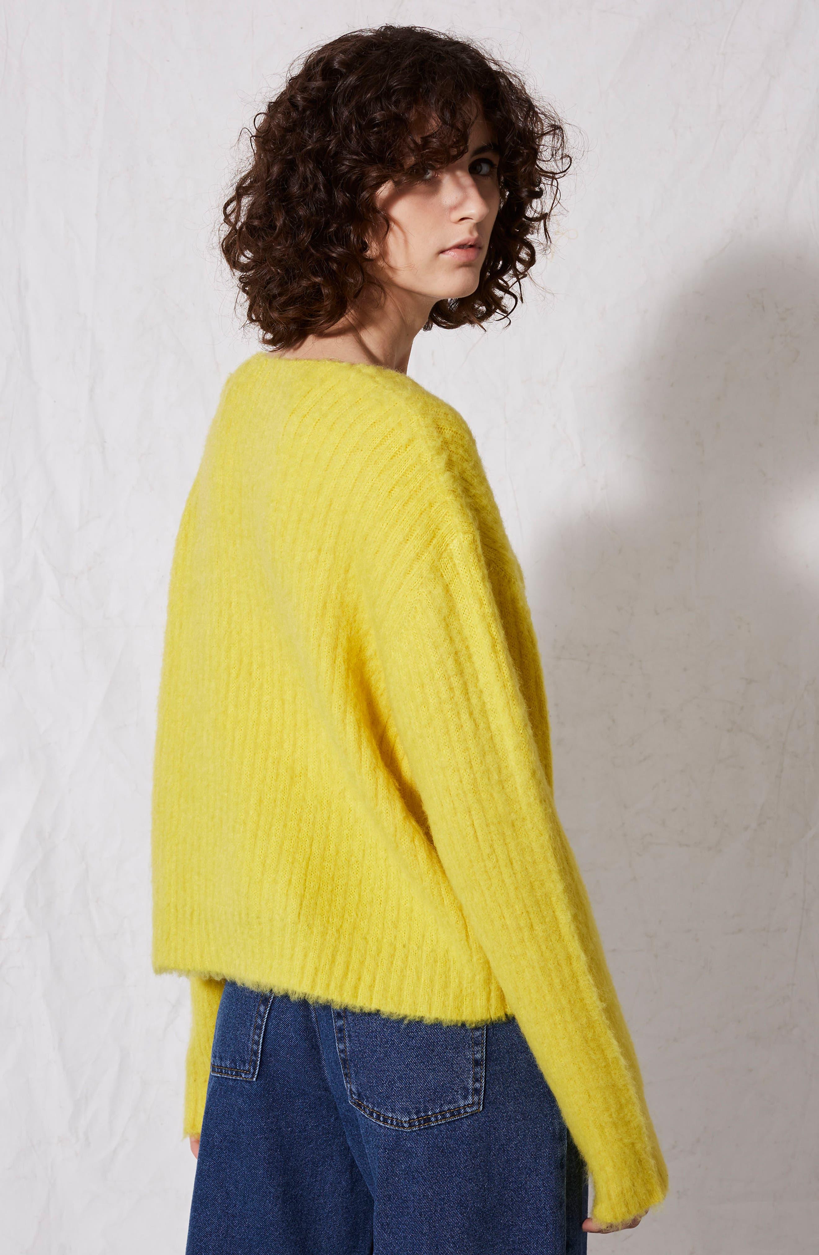 Alternate Image 3  - Topshop Boutique V-Neck Rib Sweater