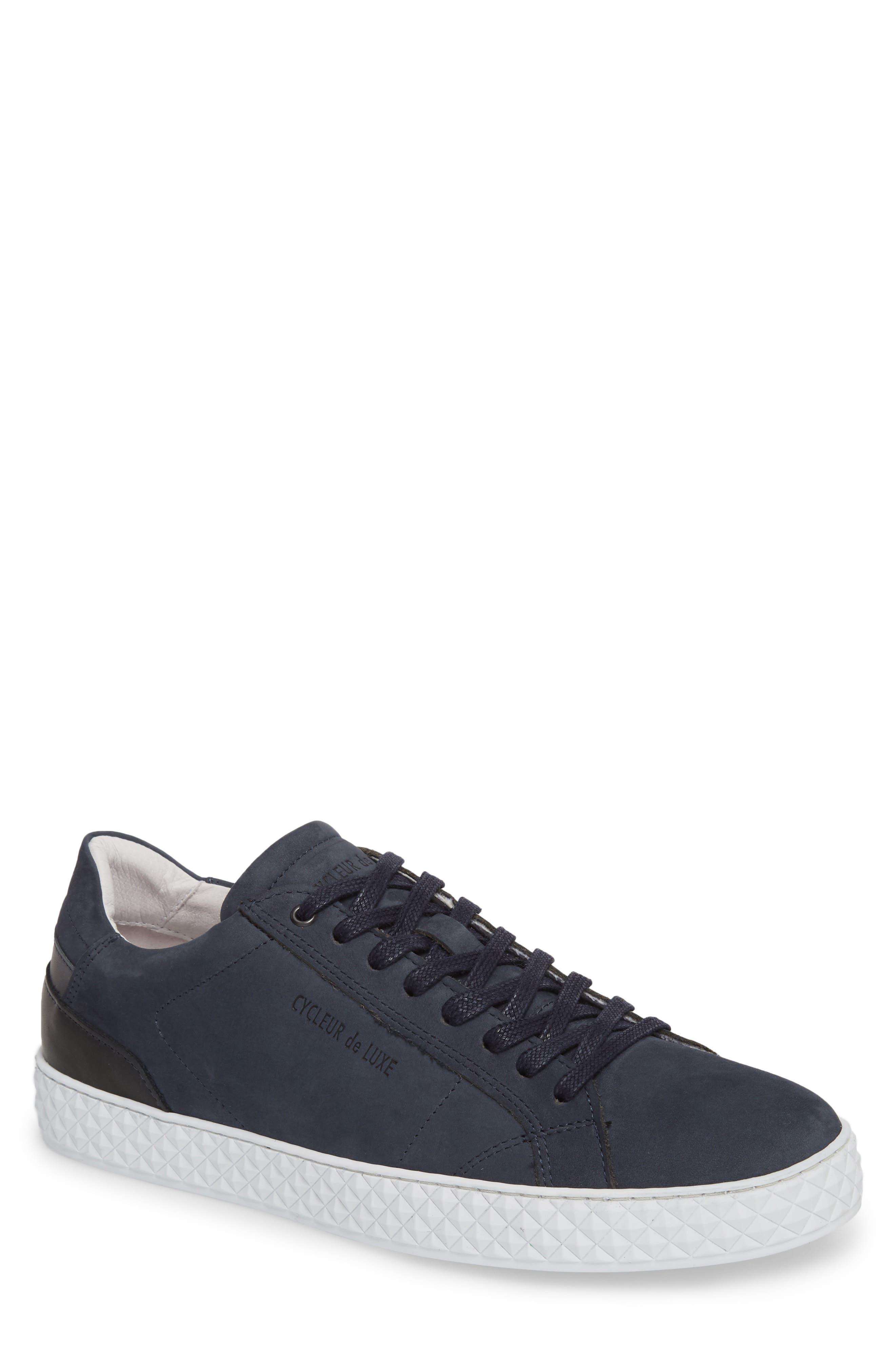 Bratislava Low Top Sneaker,                         Main,                         color, Navy Leather