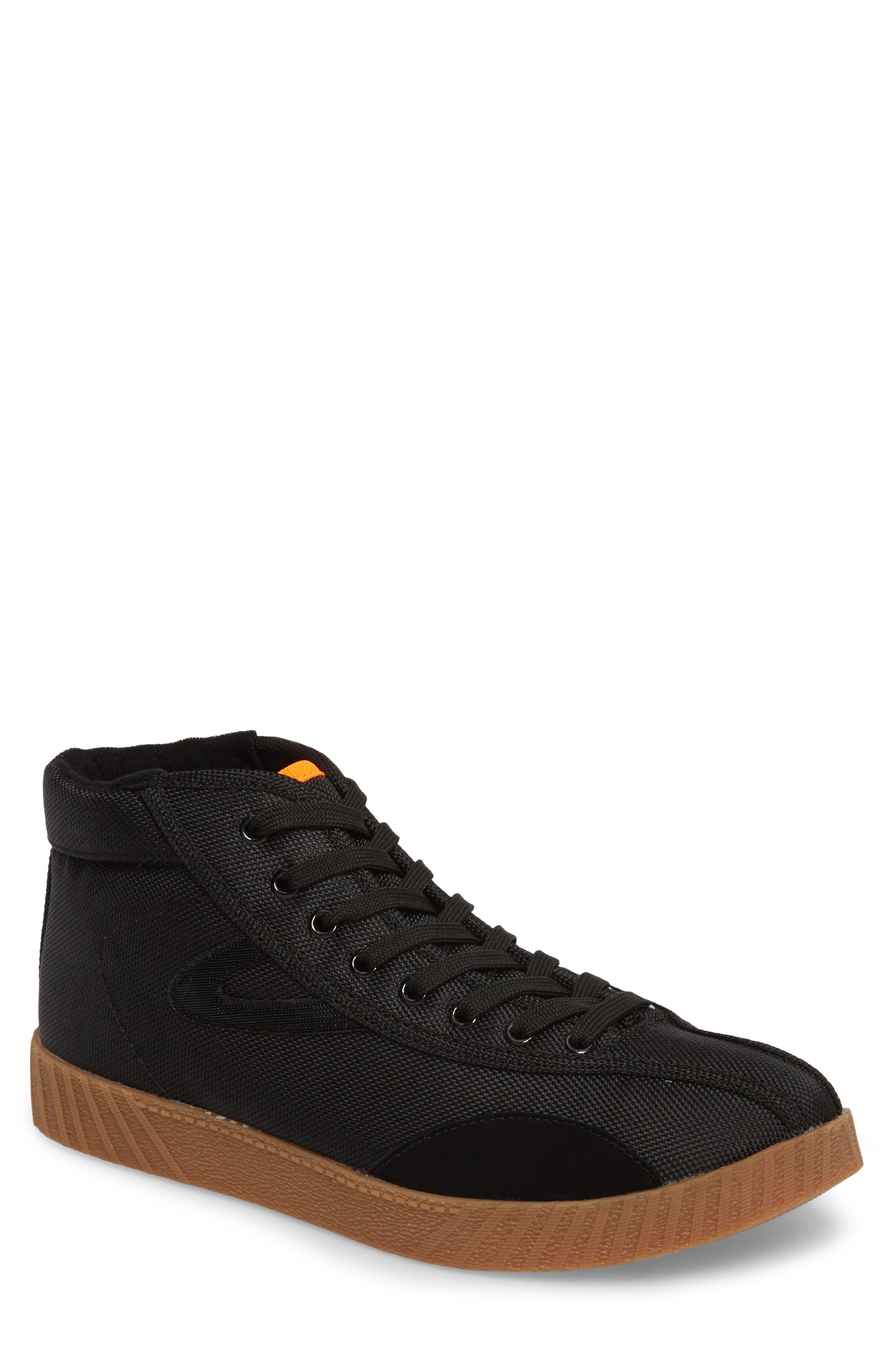 Andre 3000 Nylite High Top Sneaker,                             Main thumbnail 1, color,                             Black/ Neon Orange Nylon