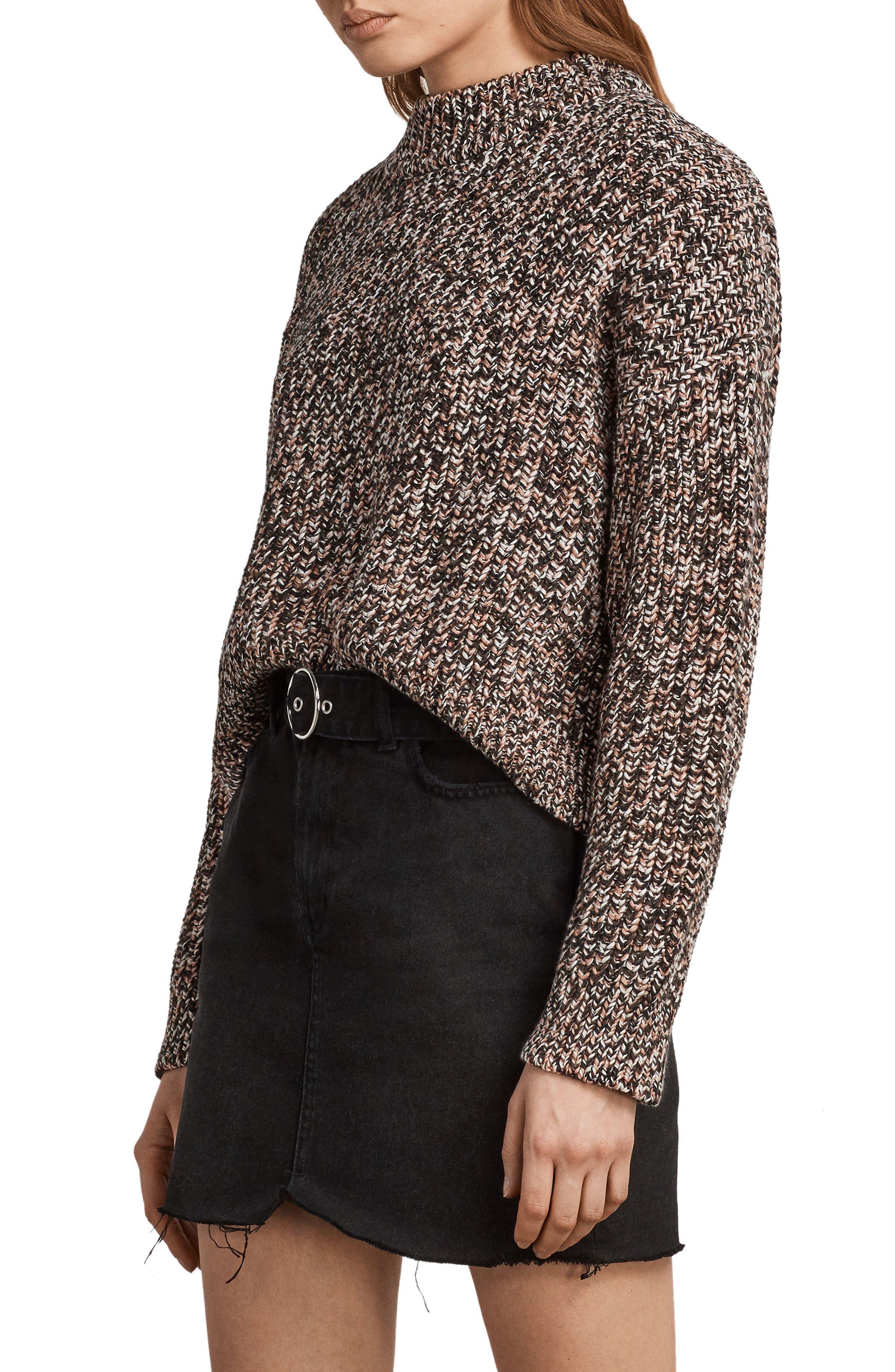 Malu Knit Sweater,                             Alternate thumbnail 3, color,                             Pink Mix