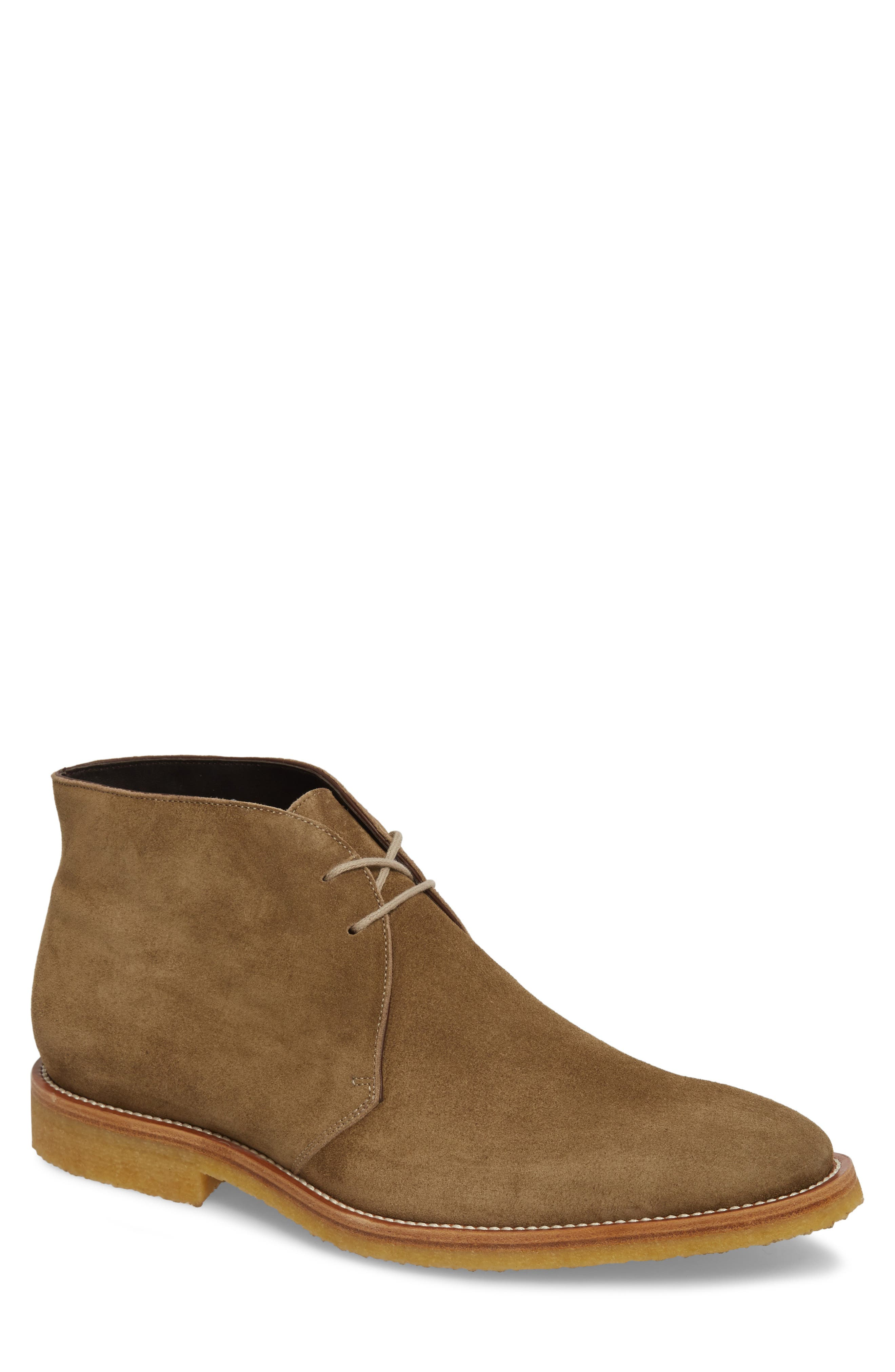 Banker Chukka Boot,                             Main thumbnail 1, color,                             Taupe Suede