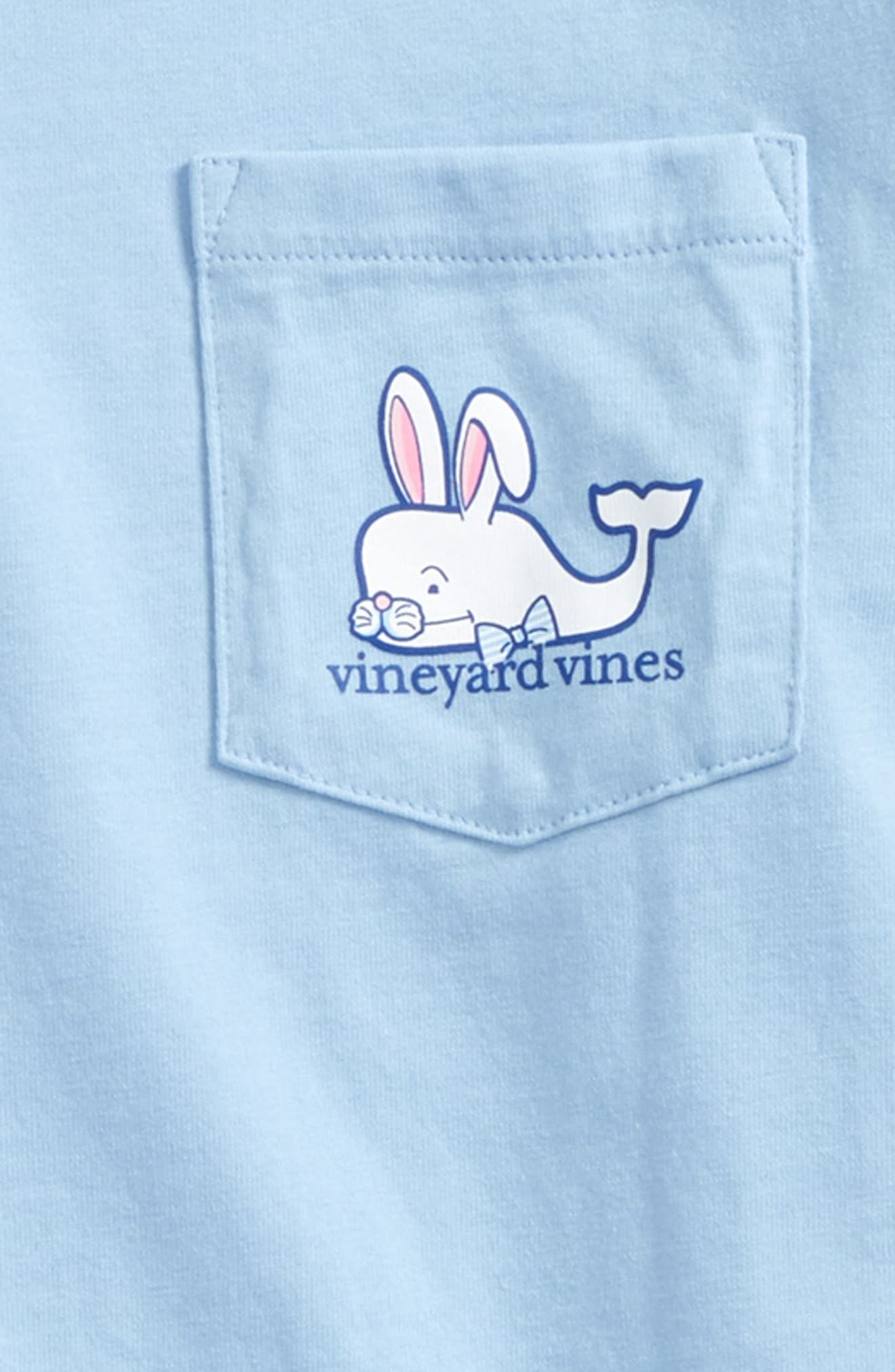Easter Bunny Whale Pocket T-Shirt,                             Alternate thumbnail 3, color,                             Jake Blue
