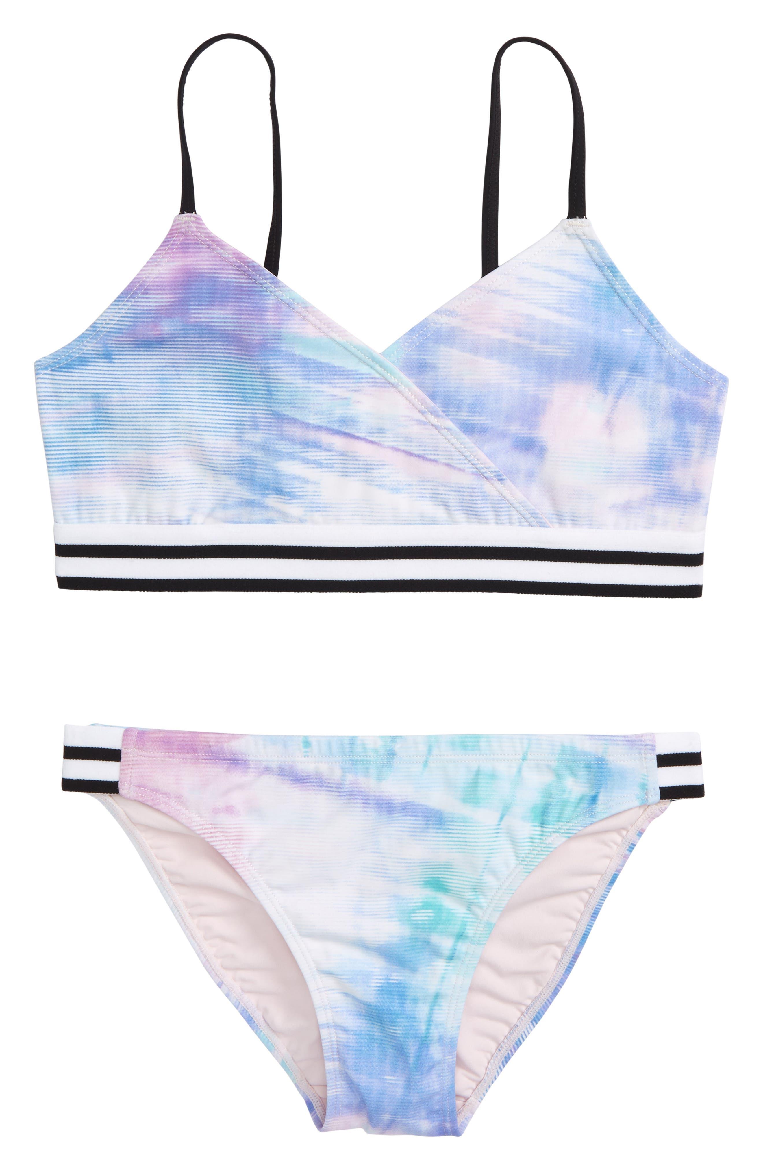 Zella Girl Retro Two-Piece Swimsuit (Big Girls)