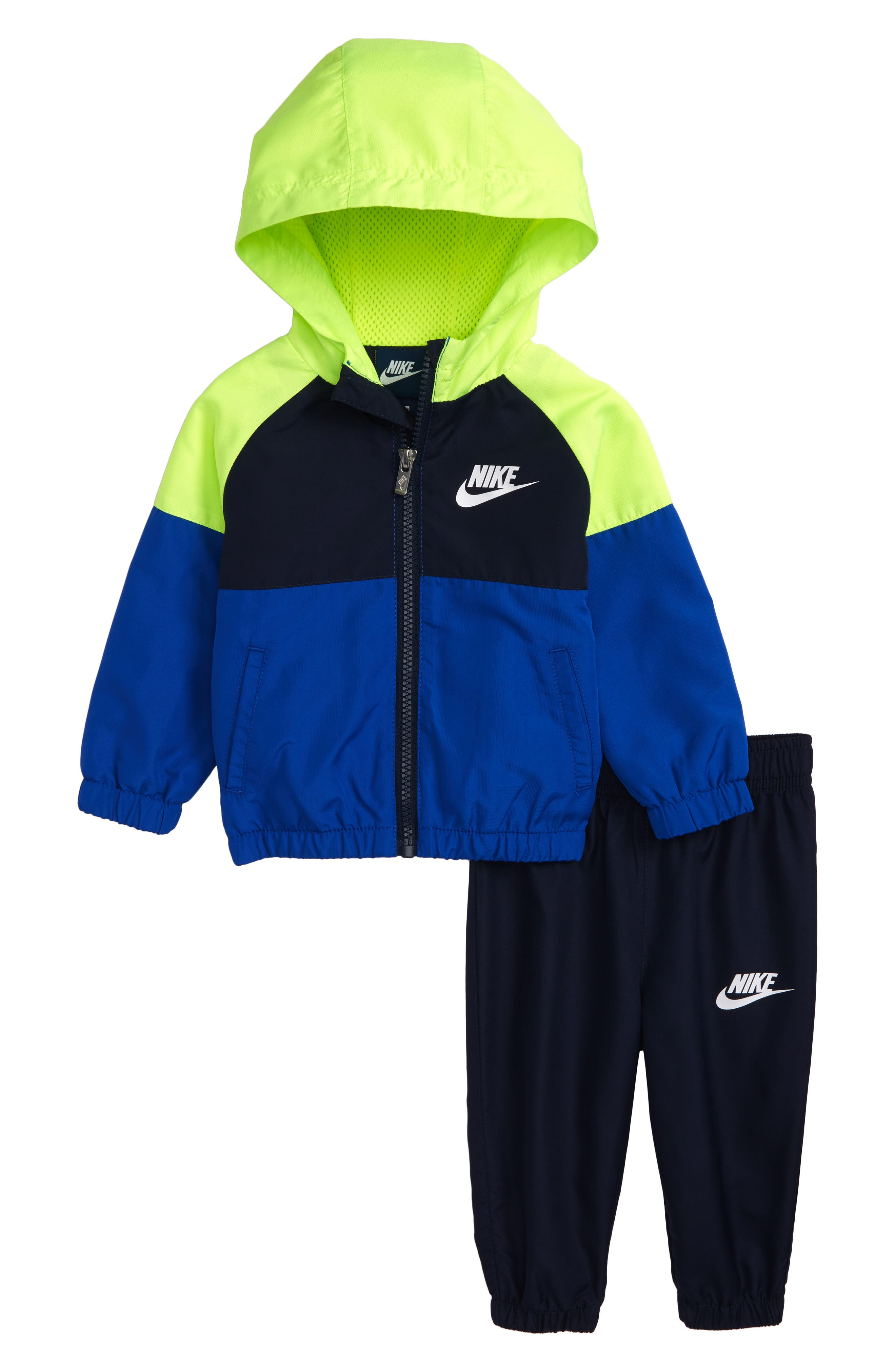 Nike Hooded Windbreaker Jacket & Pants Set (Baby Boys)
