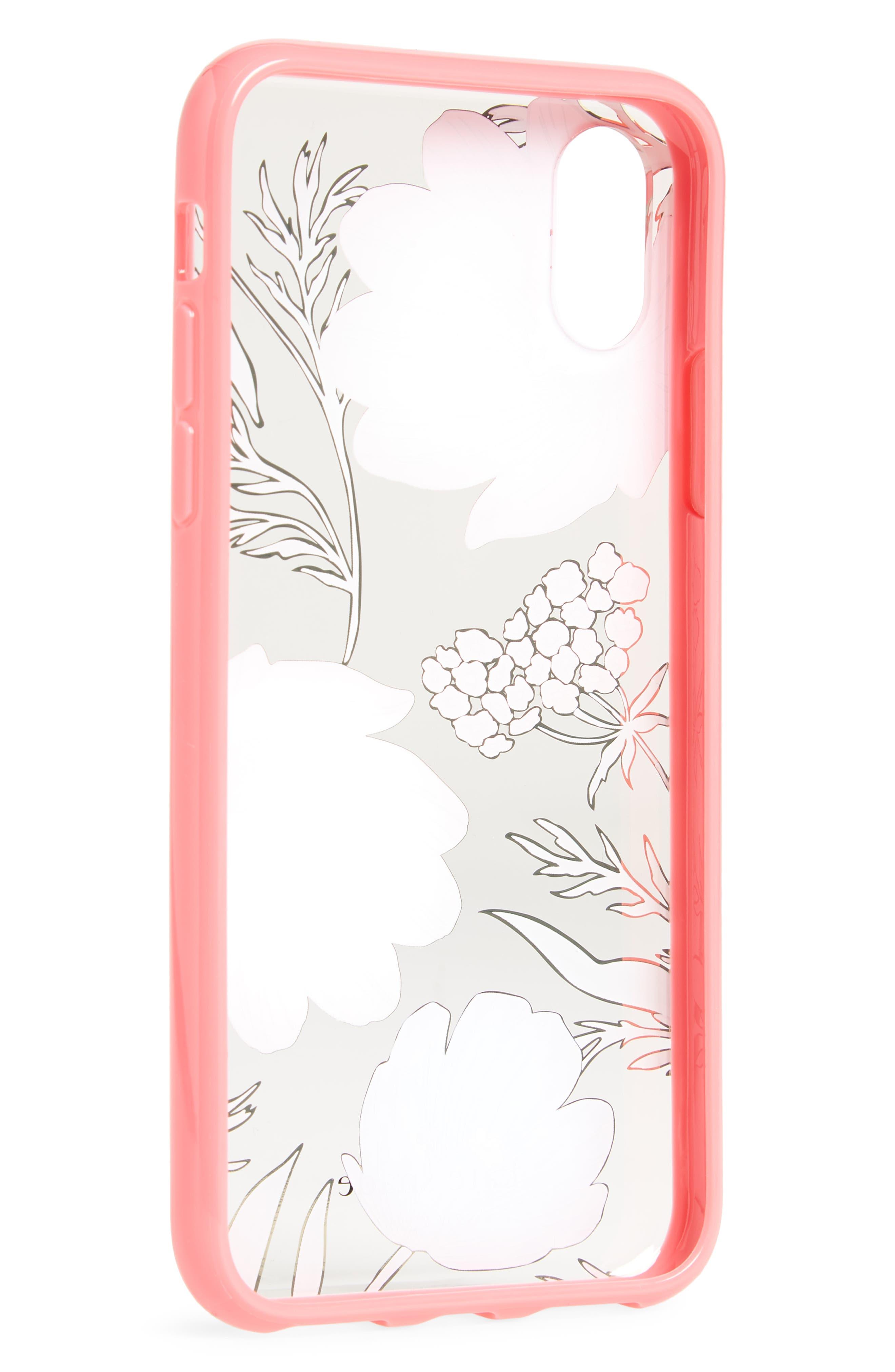 blossom iPhone X case,                             Alternate thumbnail 2, color,                             Clear Multi