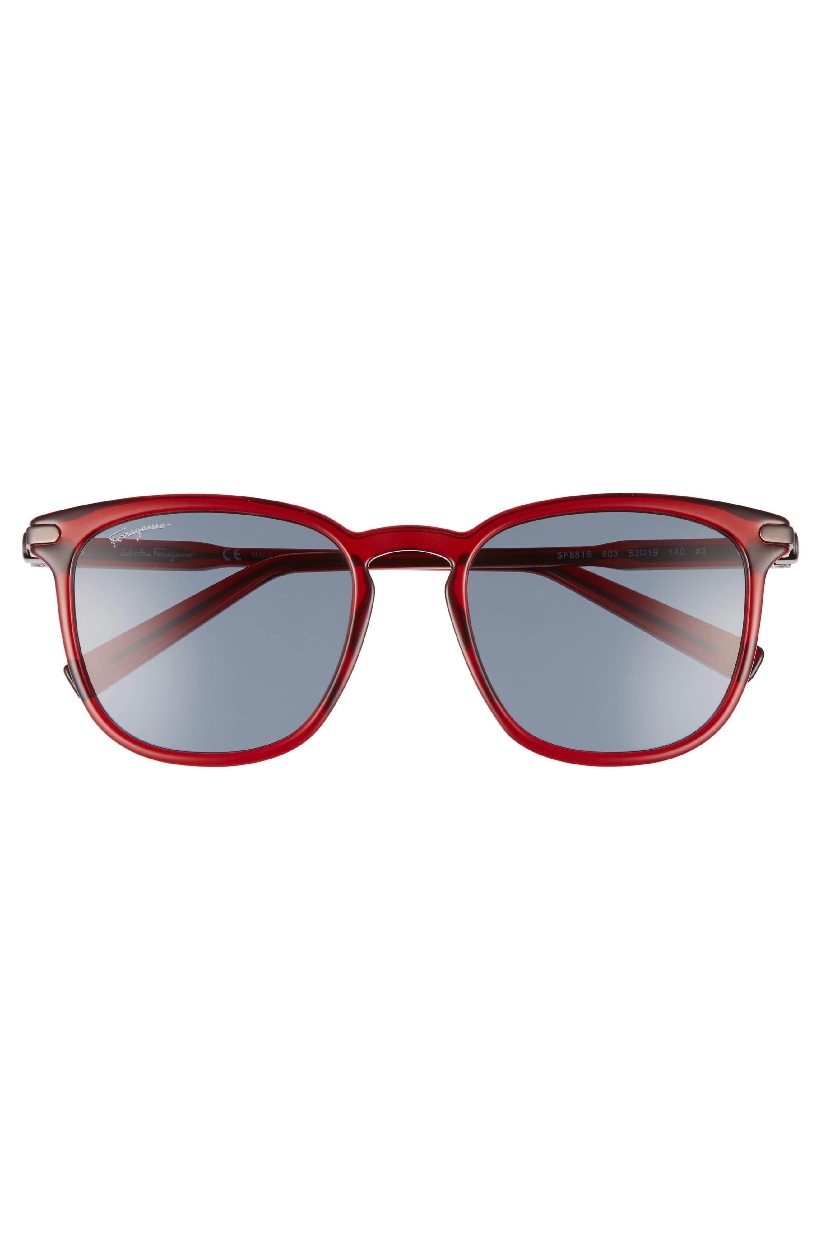 Double Gancio 53mm Sunglasses,                             Alternate thumbnail 2, color,                             Bordeaux