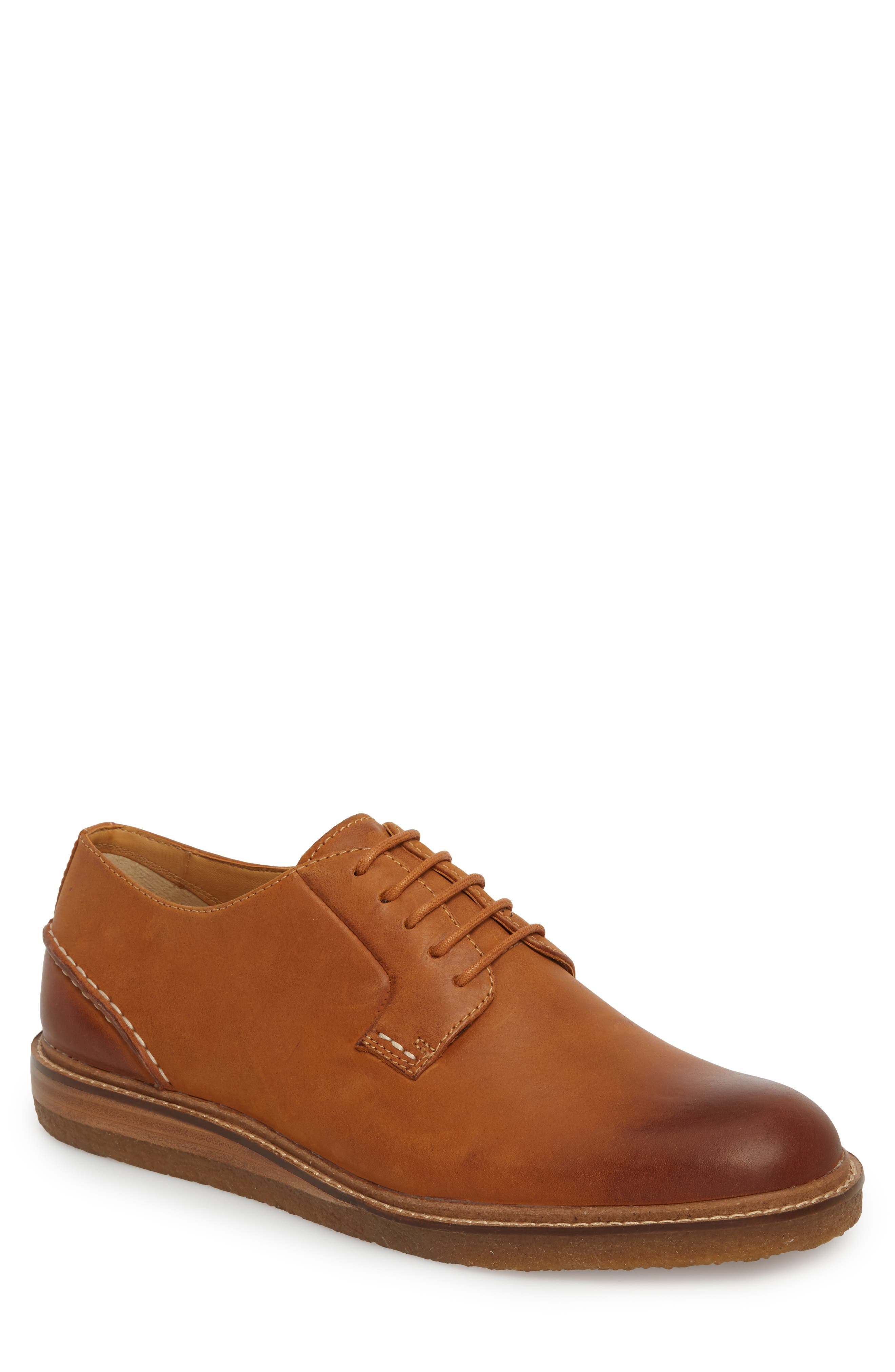 Gold Cup Plain Toe Derby,                         Main,                         color, Tan Leather