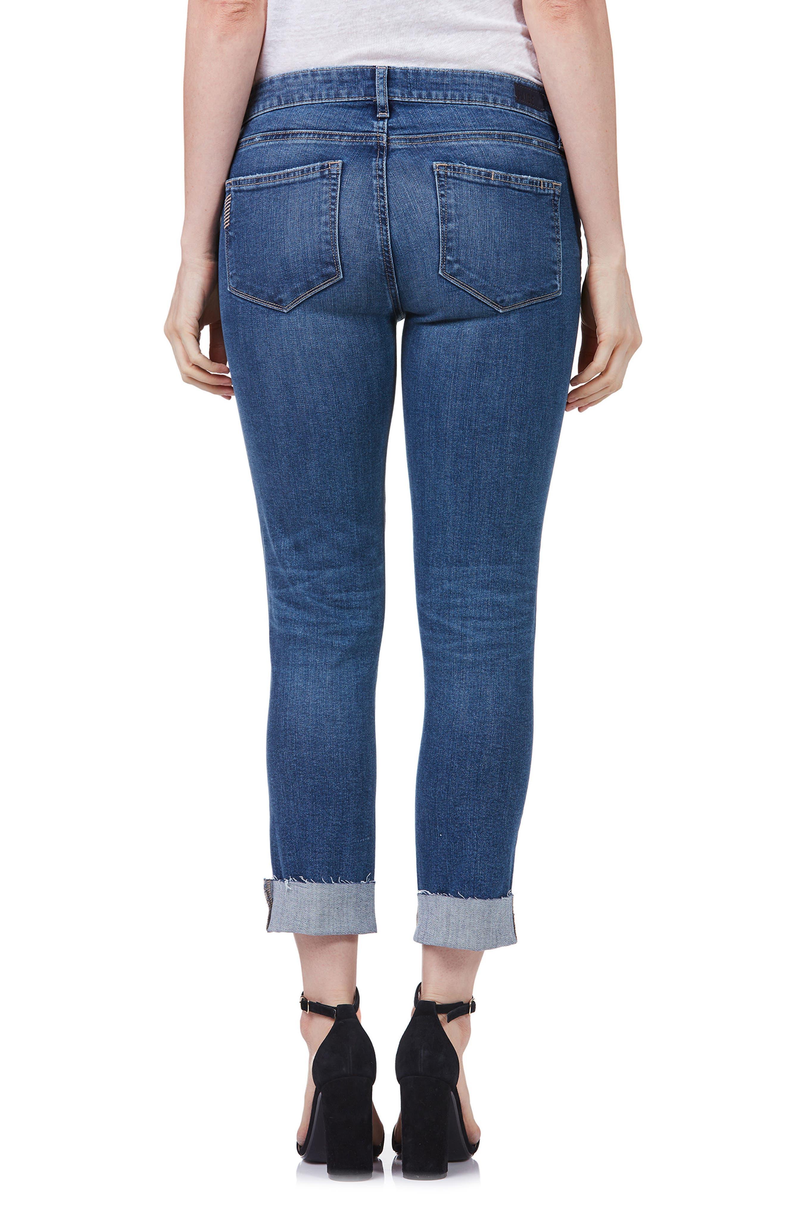 Transcend Vintage - Skyline Crop Skinny Jeans,                             Alternate thumbnail 3, color,                             Pico