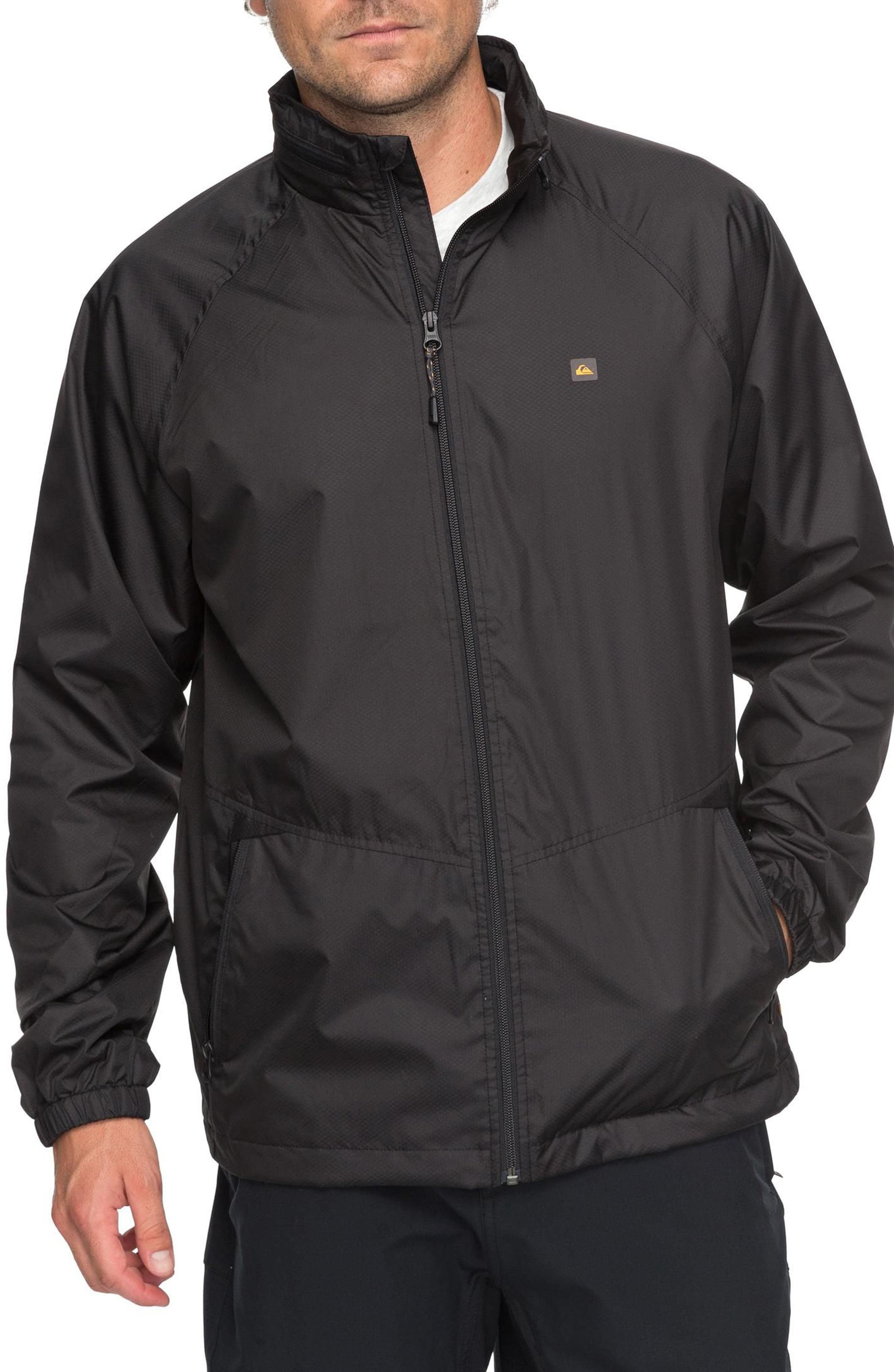 Shell Shock Water Repellent Windbreaker,                             Main thumbnail 1, color,                             Black