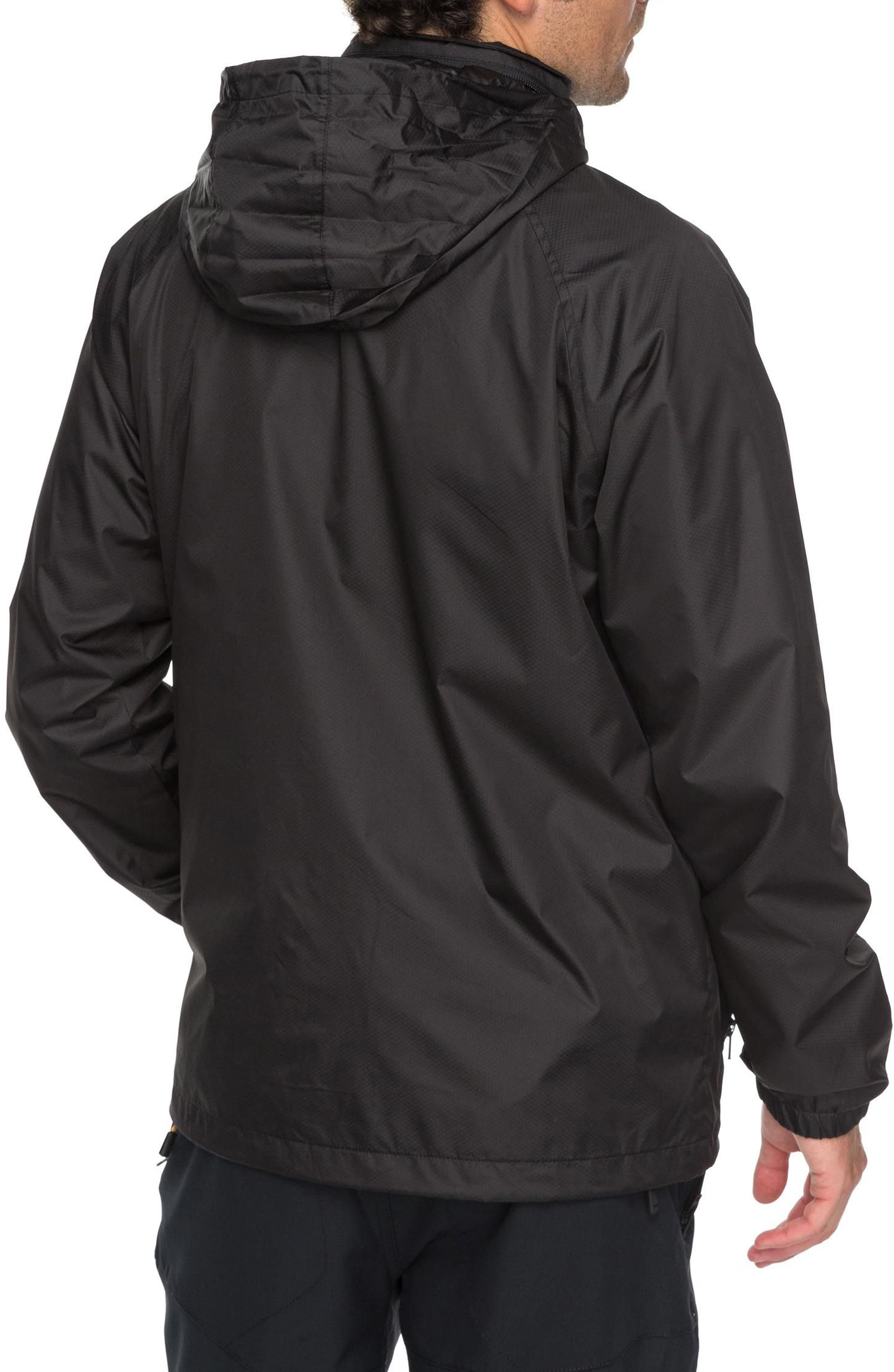 Shell Shock Water Repellent Windbreaker,                             Alternate thumbnail 2, color,                             Black