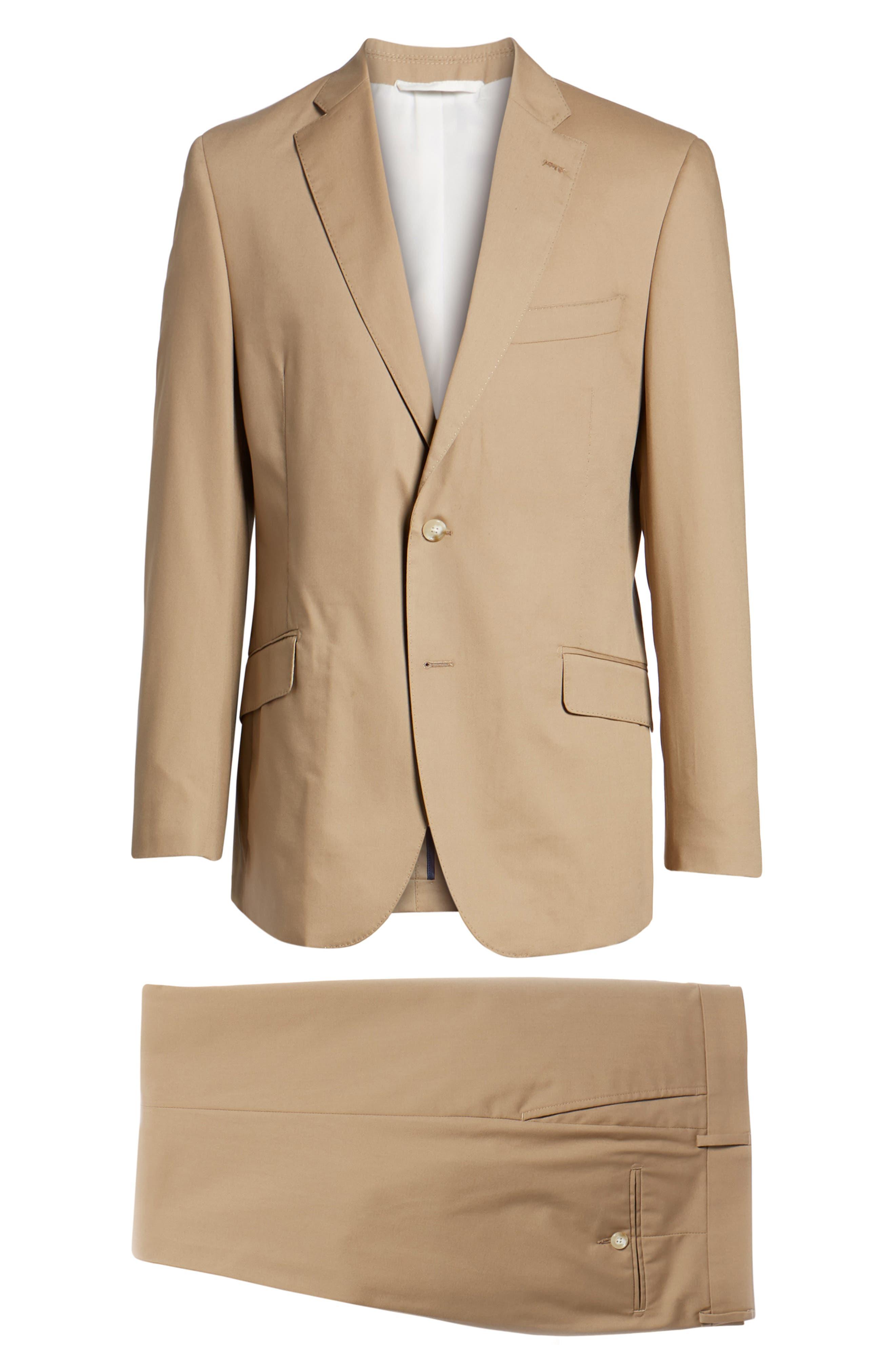 Irons AIM Classic Fit Solid Cotton Blend Suit,                             Alternate thumbnail 8, color,                             Khaki