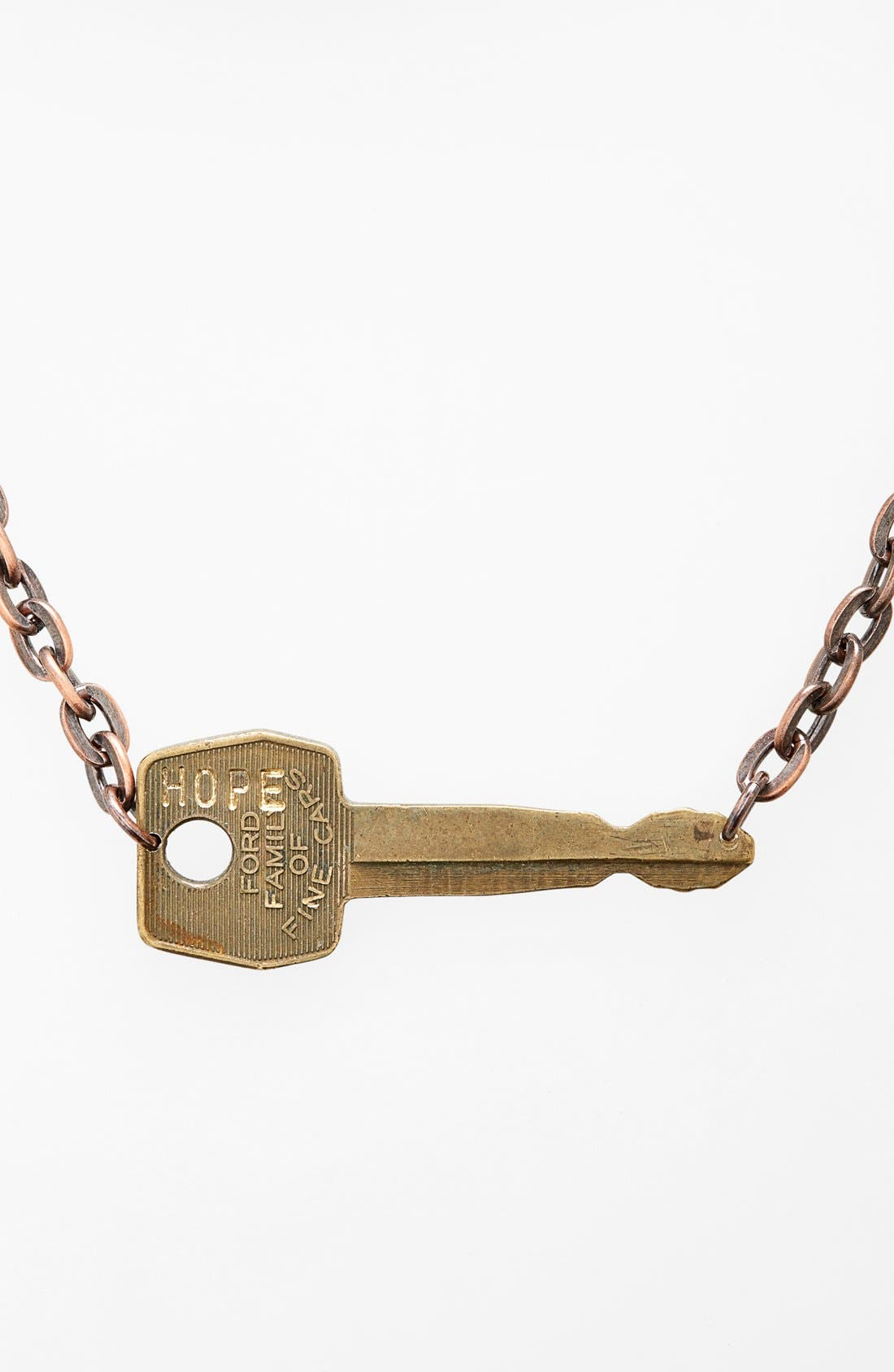 Alternate Image 1 Selected - The Giving Keys 'Never Ending' 24-Inch Copper Chain Key Necklace