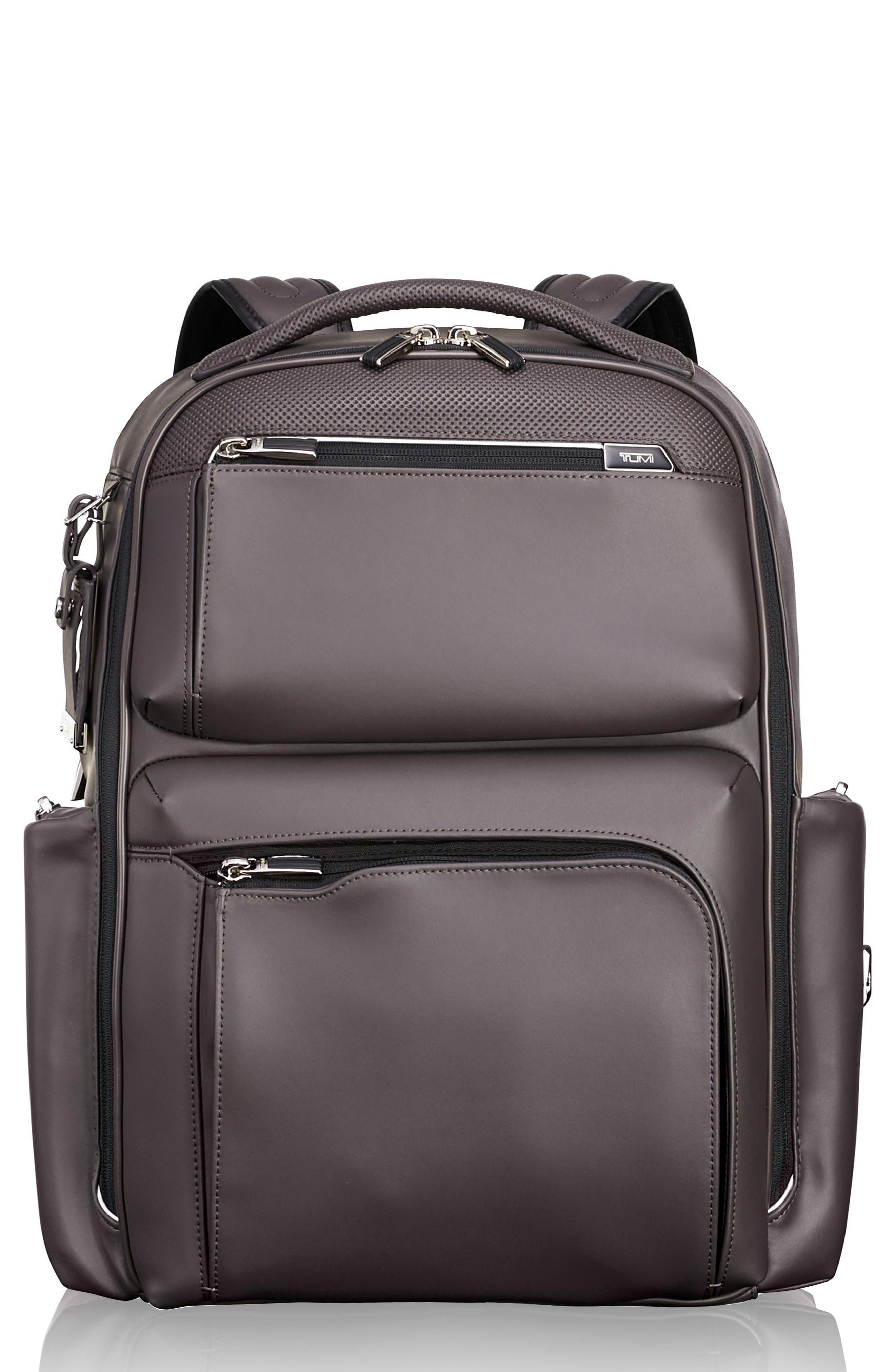 Arrivé - Bradley Leather Backpack,                             Main thumbnail 1, color,                             Taupe