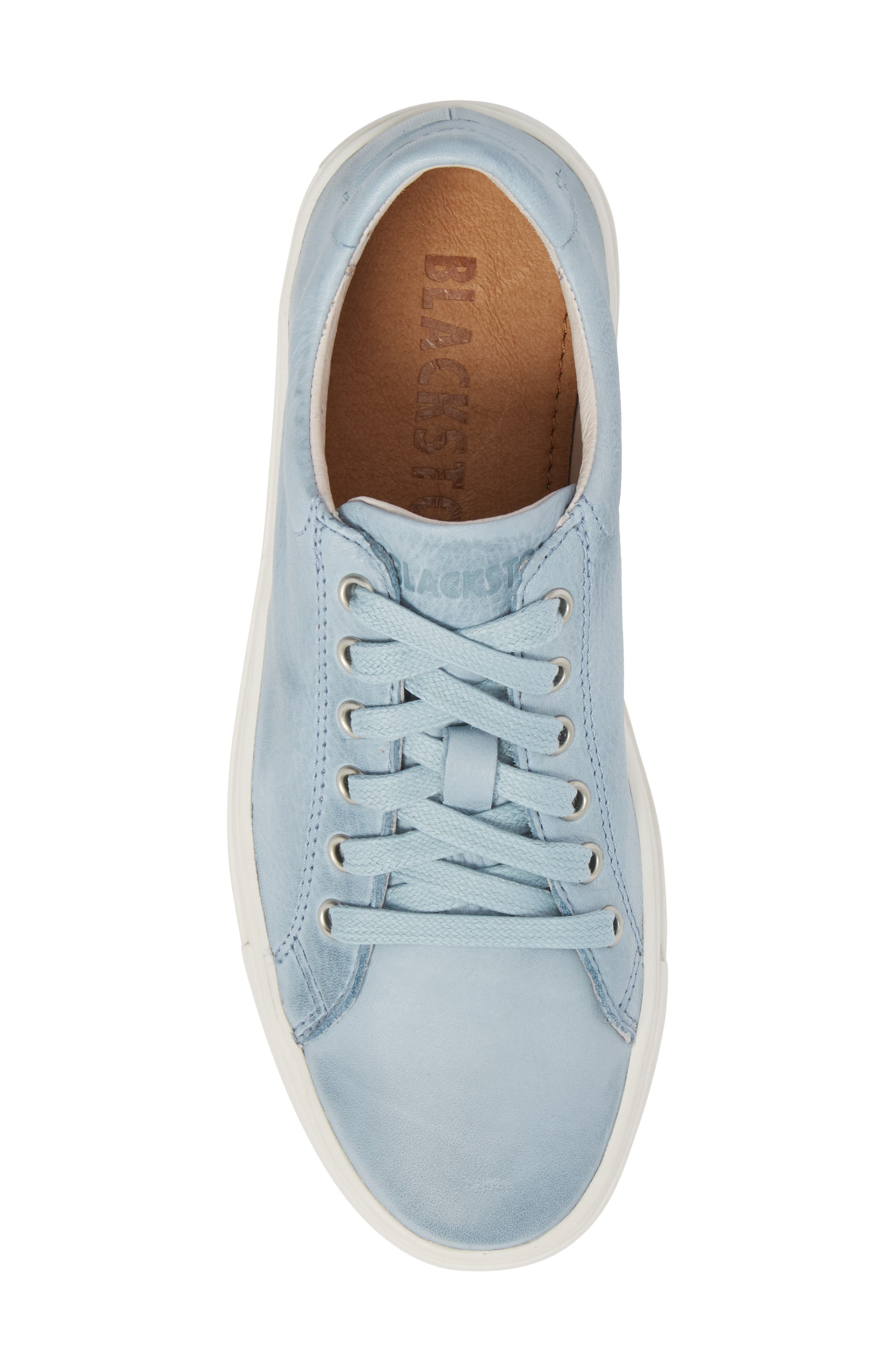 PL71 Low Top Sneaker,                             Alternate thumbnail 5, color,                             Sky Blue Leather
