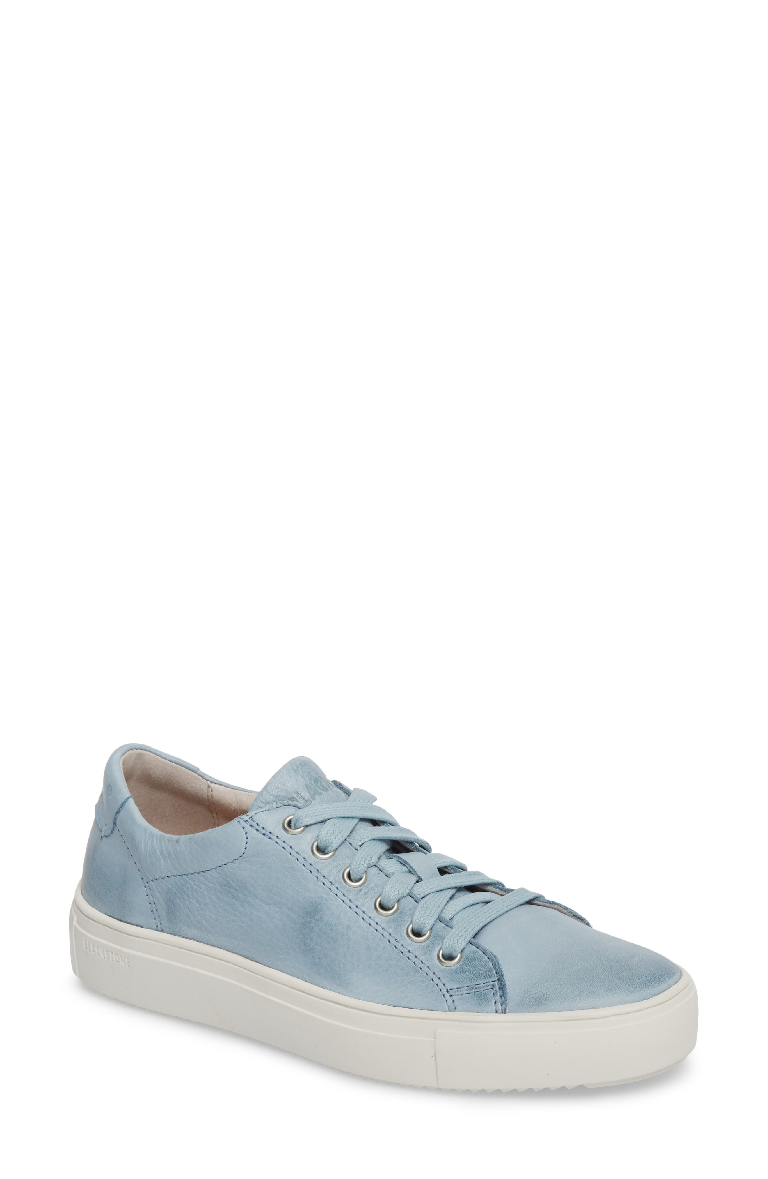 PL71 Low Top Sneaker,                             Main thumbnail 1, color,                             Sky Blue Leather