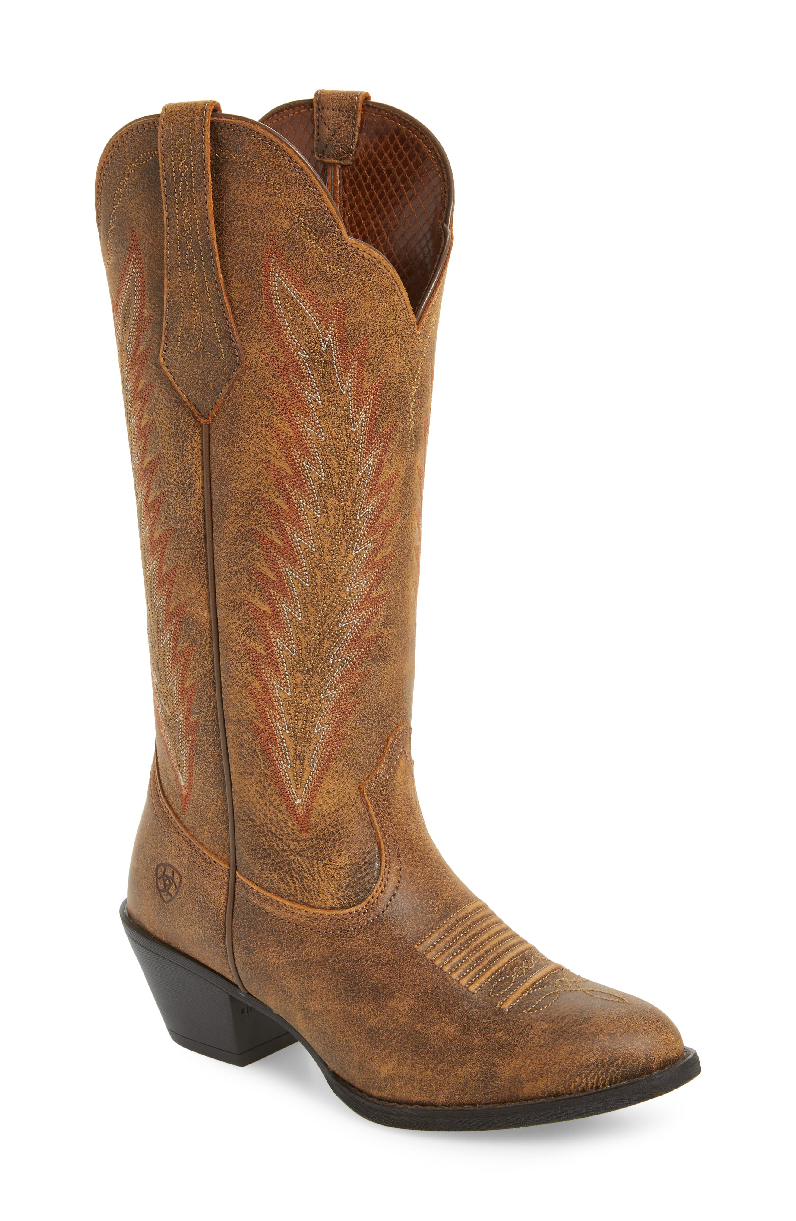 Desert Sky Western Boot,                         Main,                         color, Vintage Bomber Leather