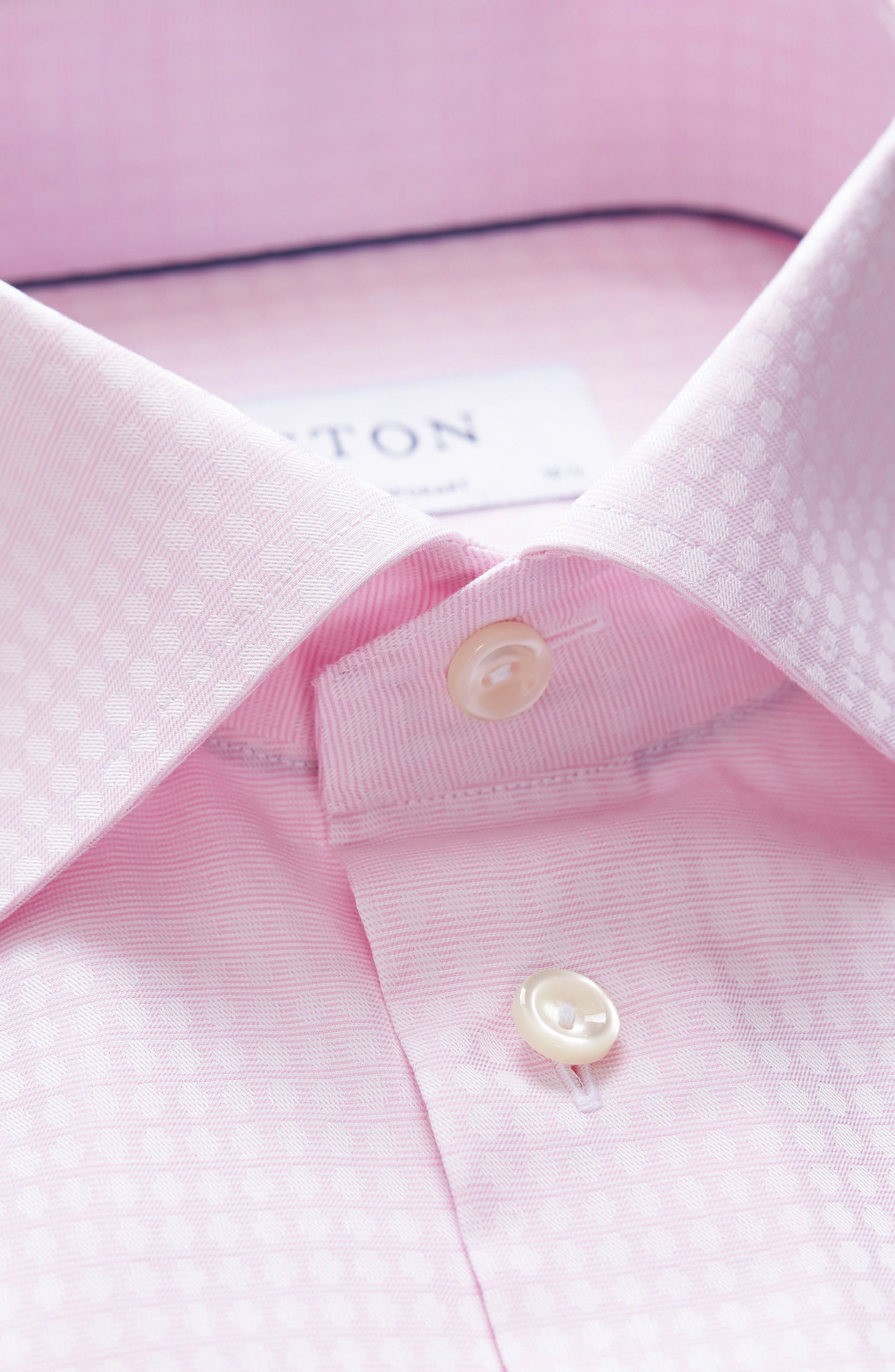 Contemporary Fit Pattern Dress Shirt,                             Alternate thumbnail 2, color,                             Pink