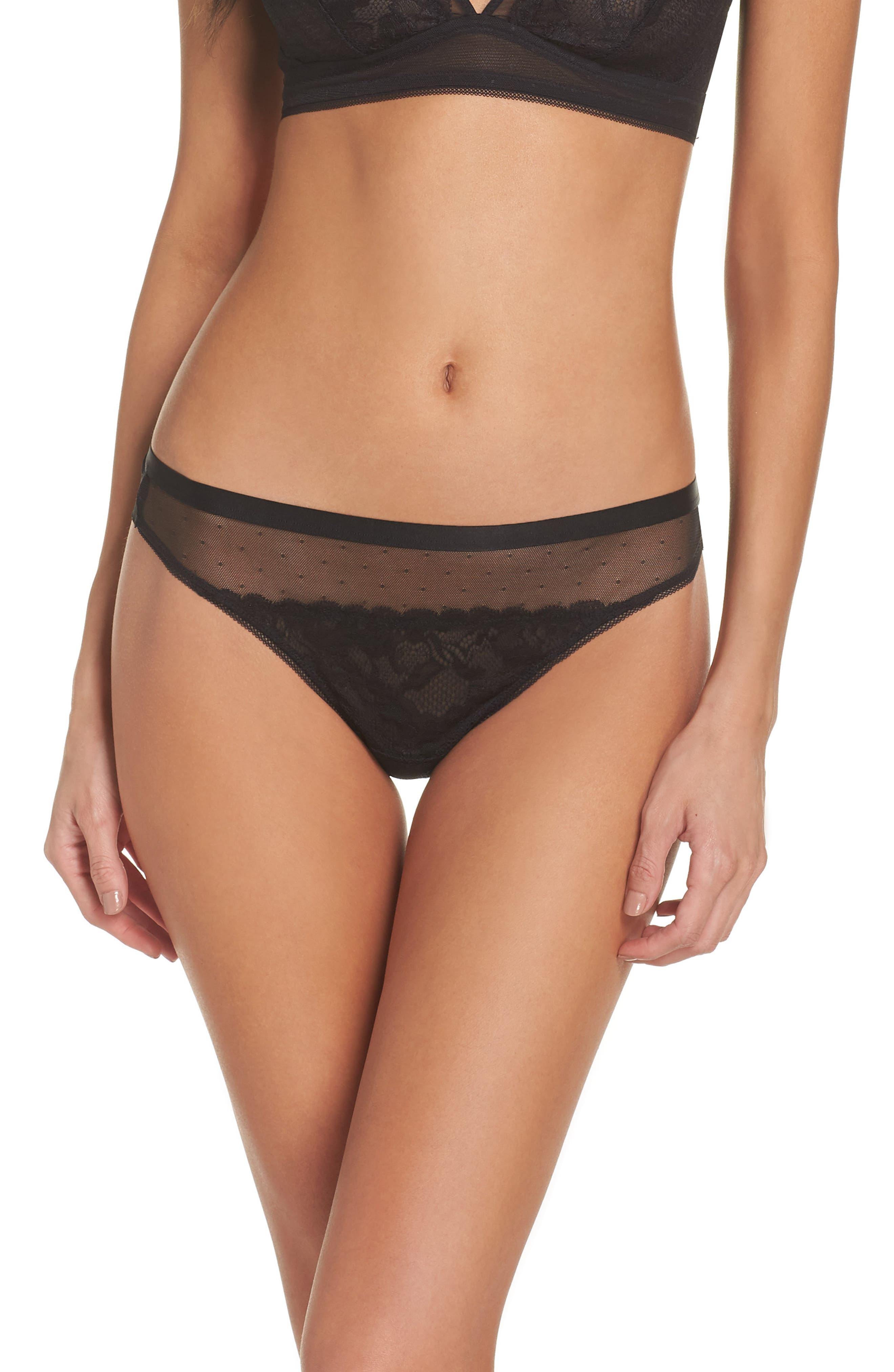 Pop Rocks Tanga,                             Main thumbnail 1, color,                             Black