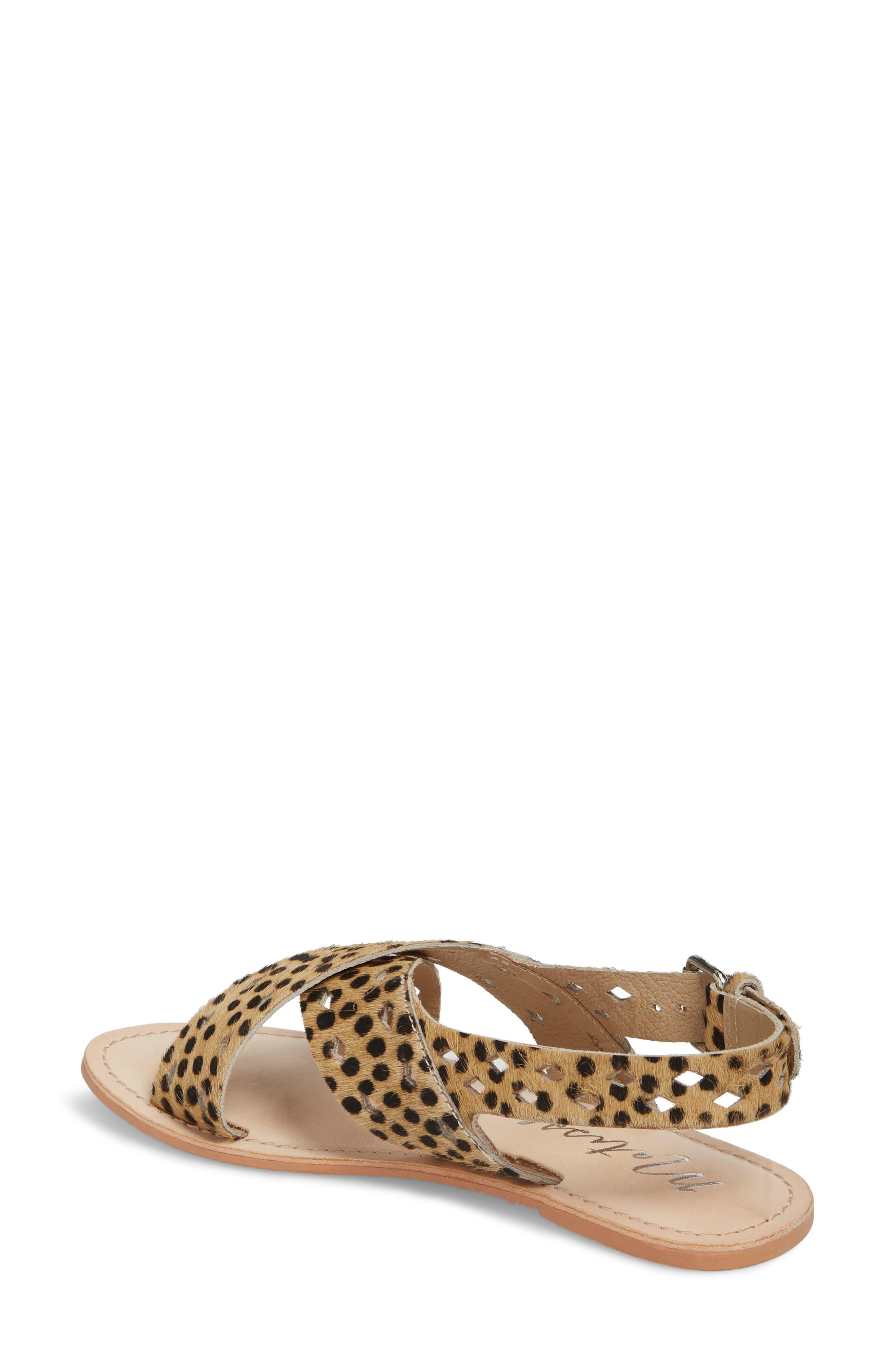 Whistler Genuine Calf Hair Sandal,                             Alternate thumbnail 2, color,                             Leopard