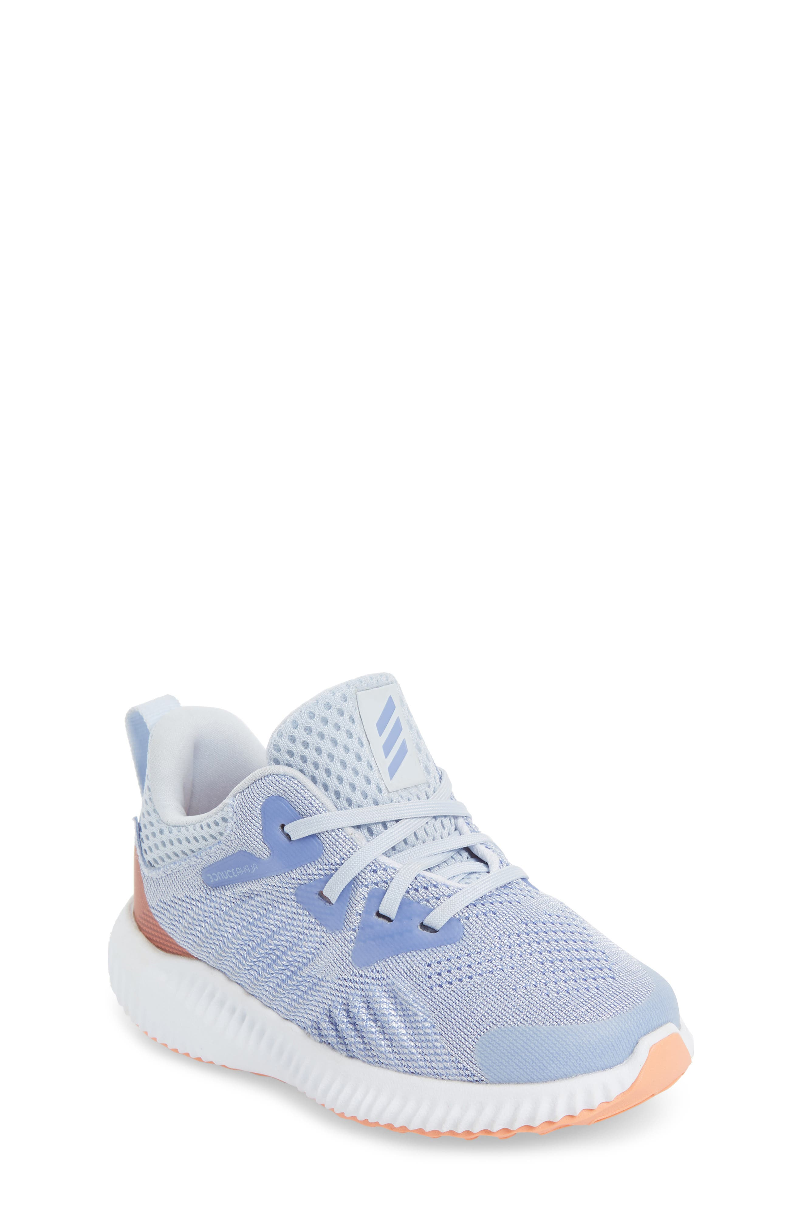 AlphaBounce Beyond Running Shoe,                         Main,                         color, Blue/ Chalk Purple/ White