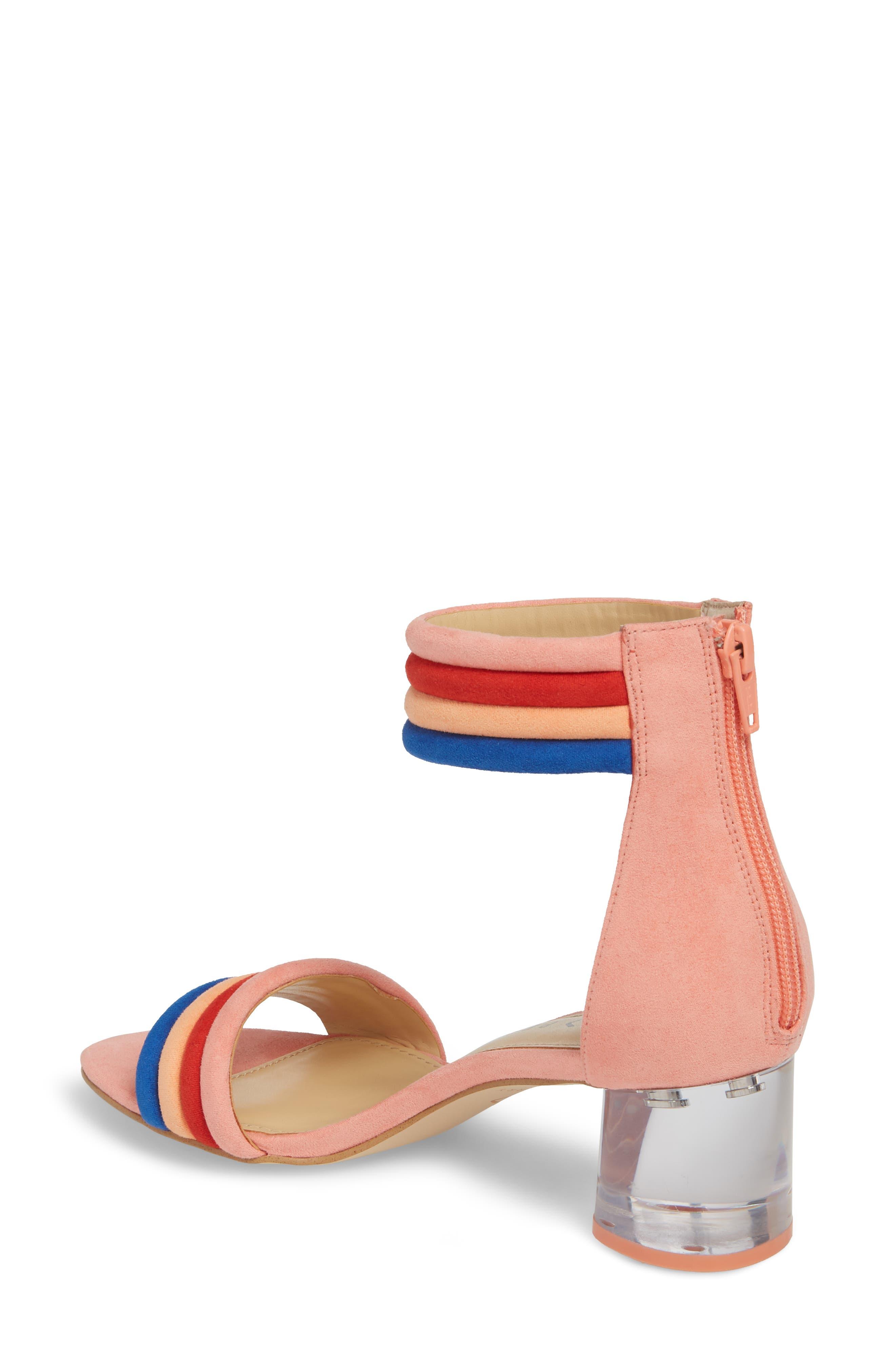 Tube Strap Sandal,                             Alternate thumbnail 2, color,                             Pop Pink Suede