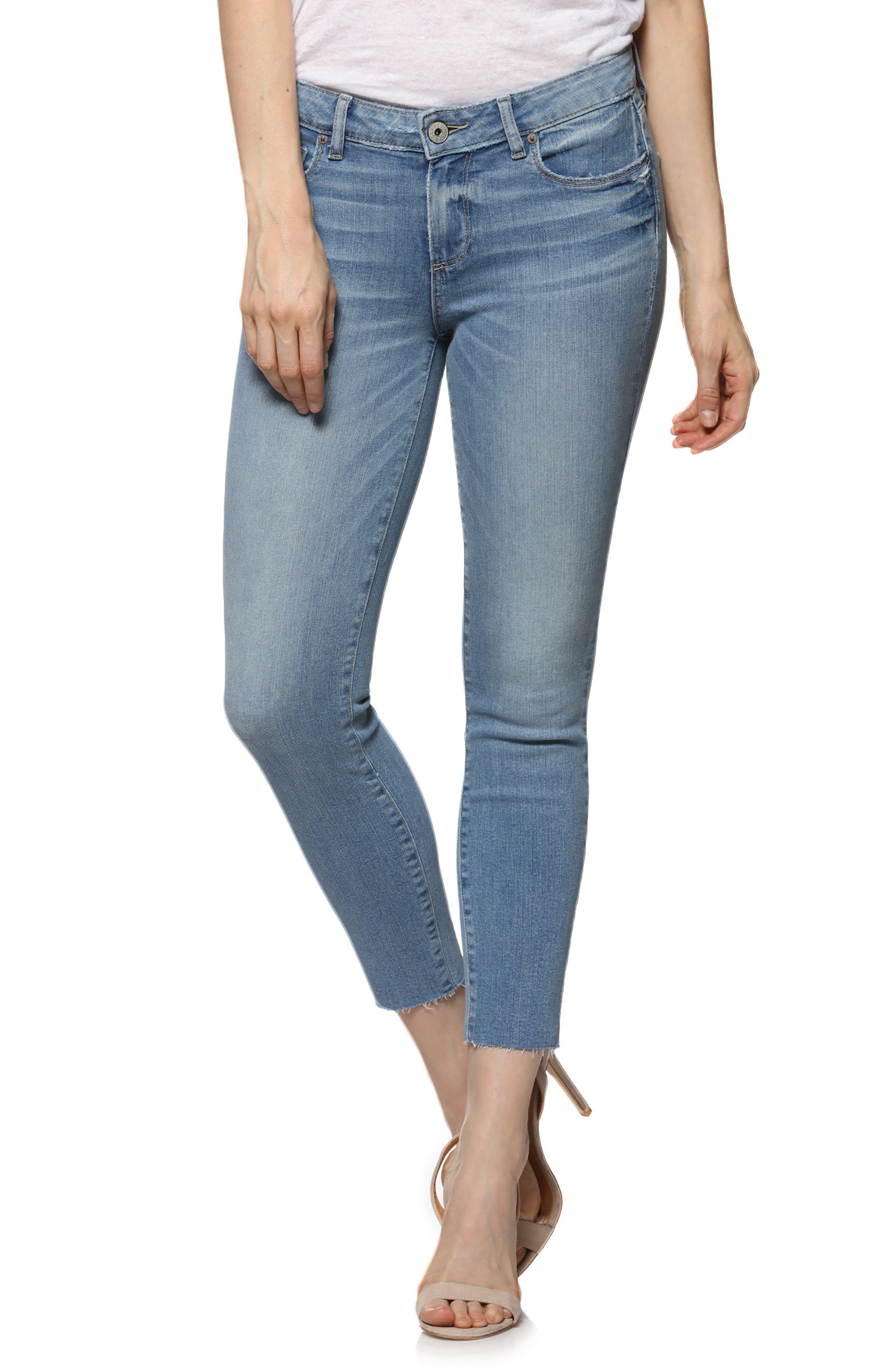 Transcend - Verdugo Raw Hem Crop Skinny Jeans,                         Main,                         color, Venice
