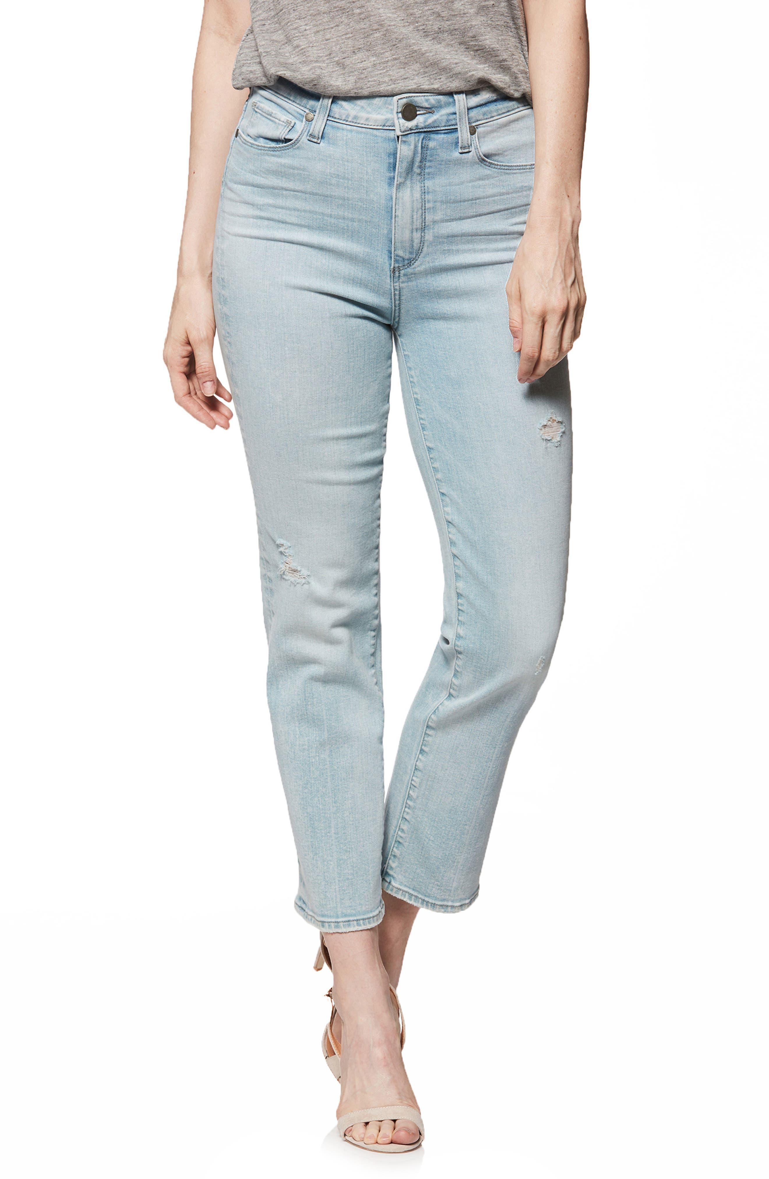 Margot High Waist Straight Leg Jeans,                         Main,                         color, Pasadena W/ Wash Crease
