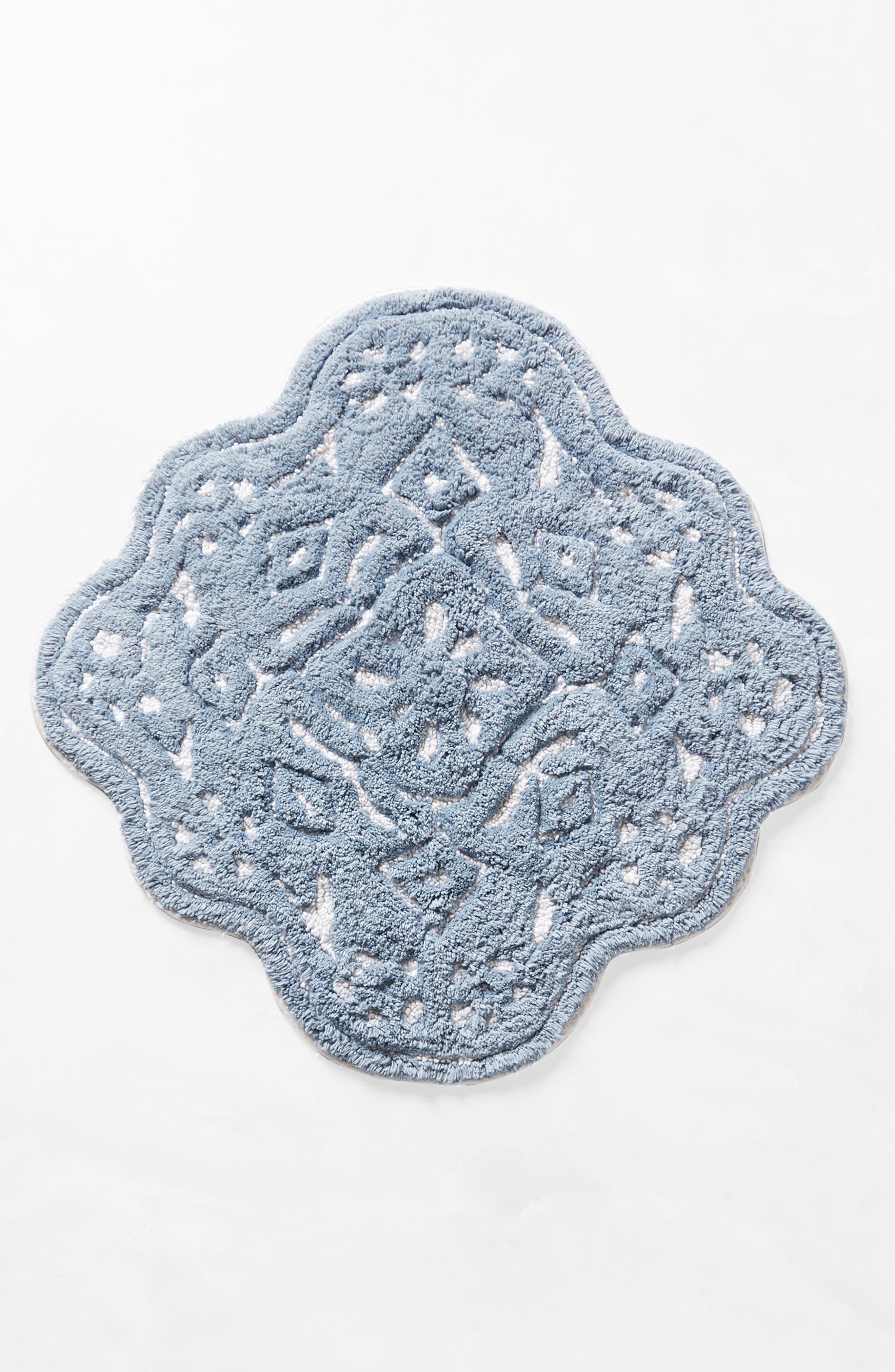 Mosaic Tile Bath Mat,                             Alternate thumbnail 2, color,                             Blue