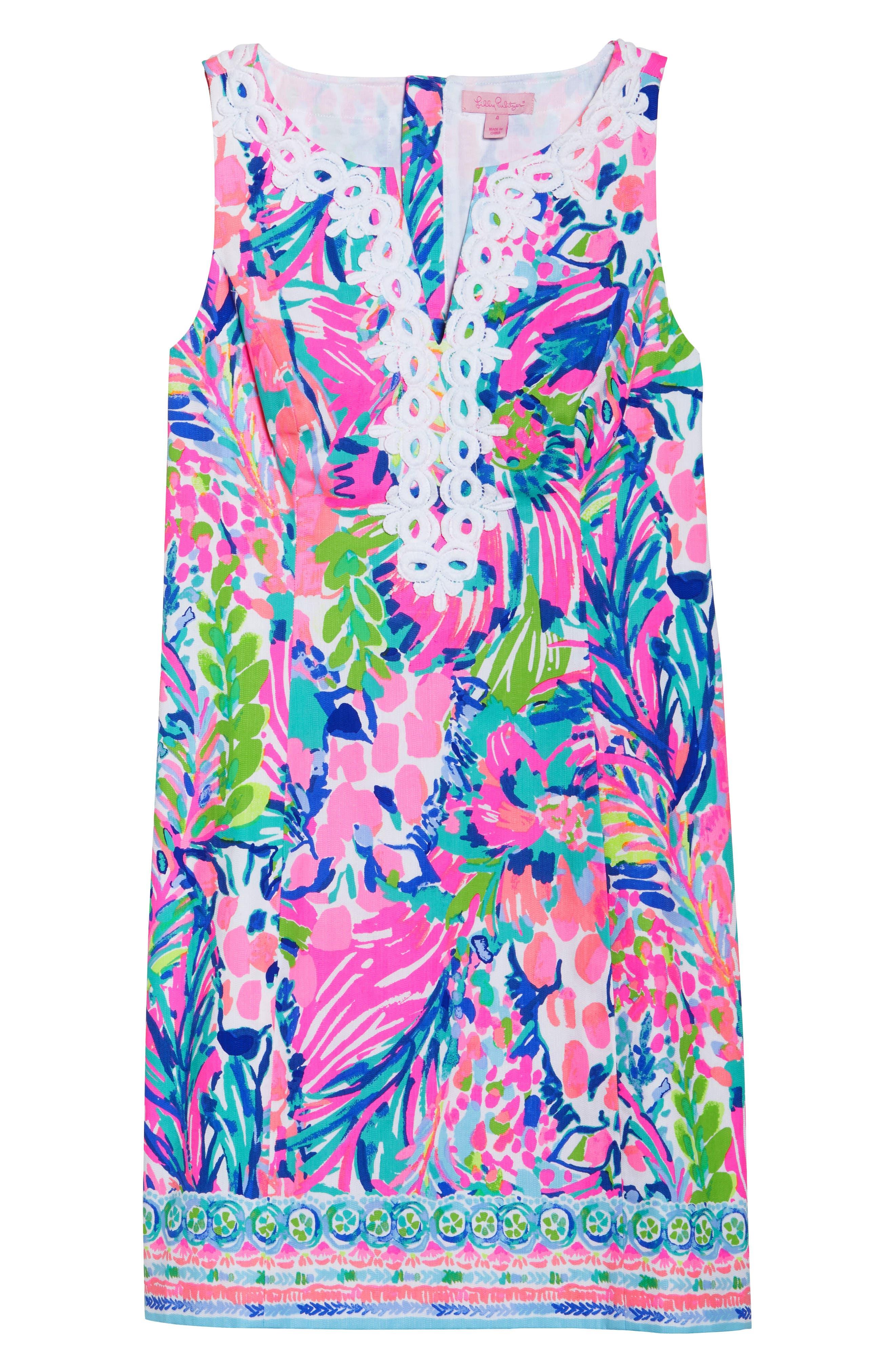 Gabby Tropical Print Dress,                             Alternate thumbnail 7, color,                             Multi Gumbo Limbo