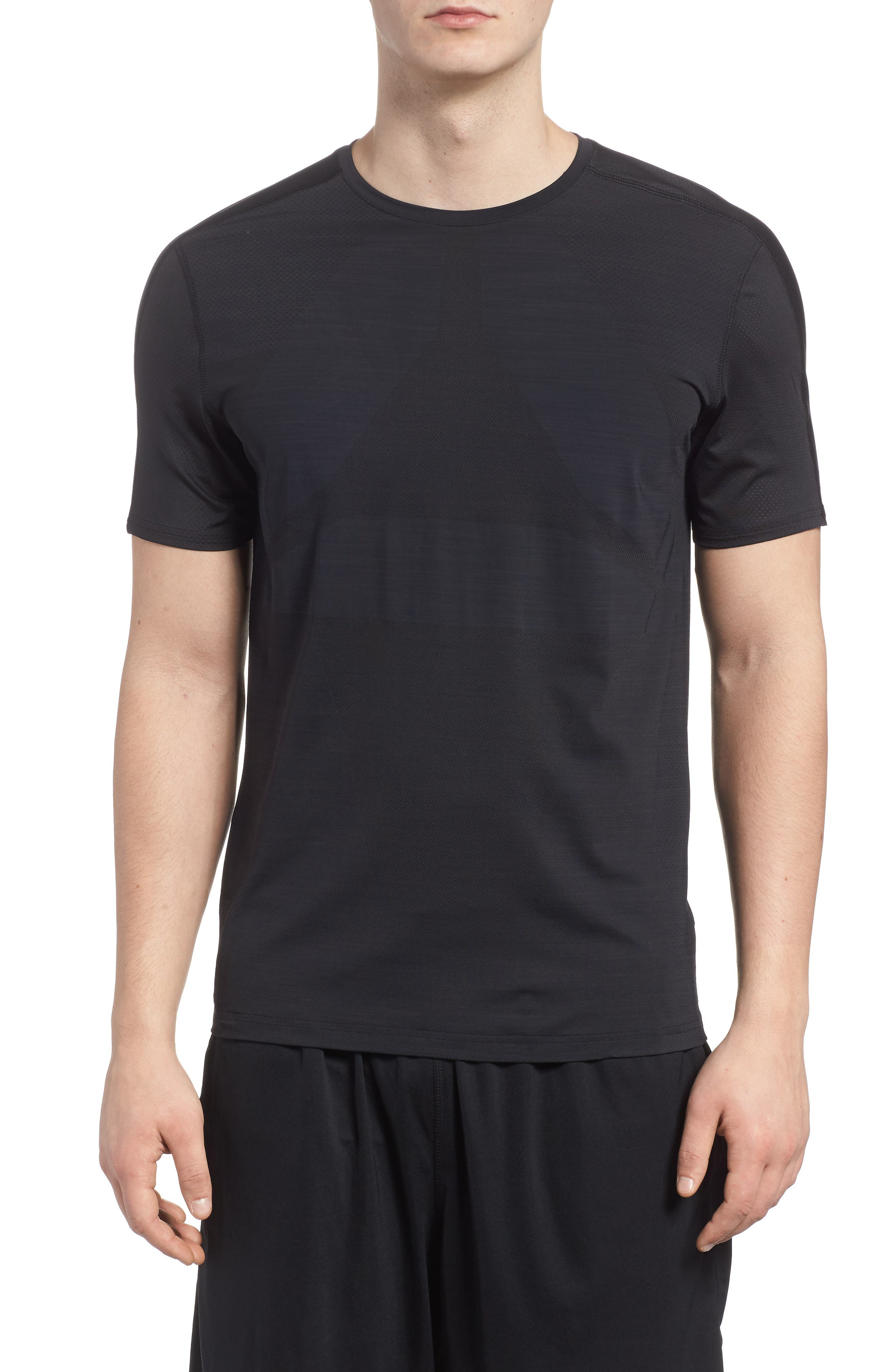 ACTIVCHILL Vent Move Crewneck T-Shirt,                         Main,                         color, Black