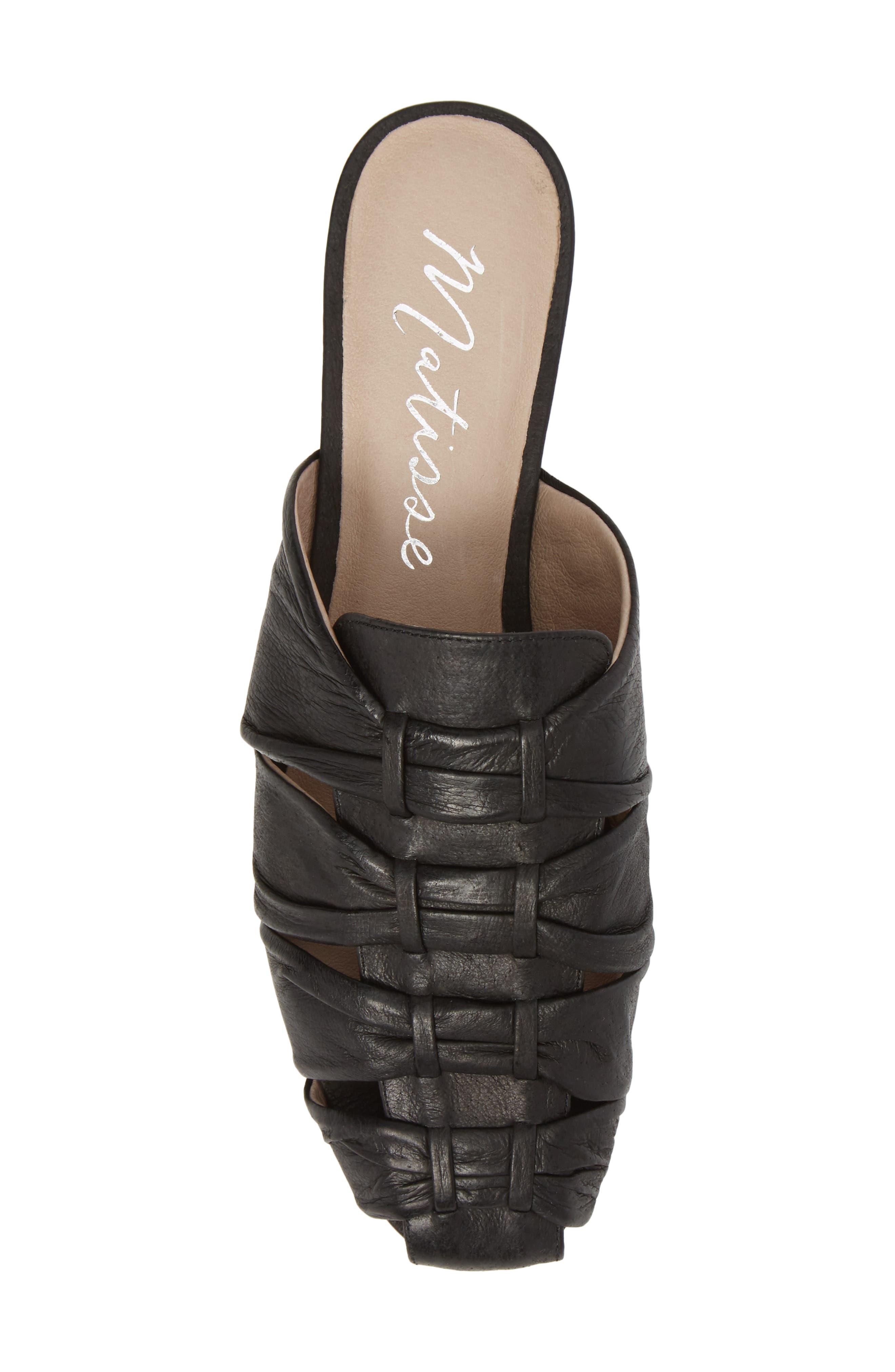 Evangeline Mule,                             Alternate thumbnail 5, color,                             Black Leather