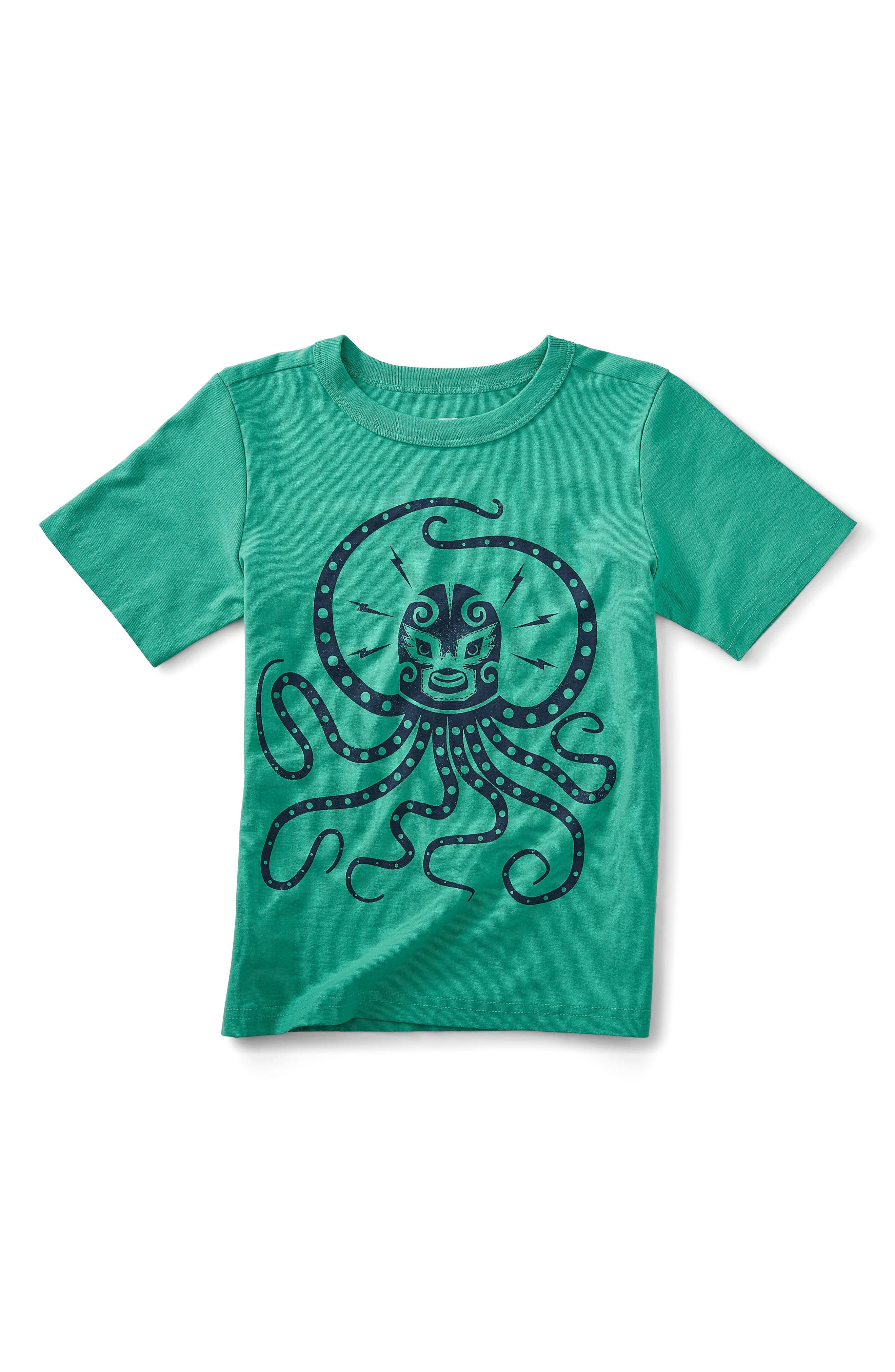 Octo Luchador Graphic T-Shirt,                             Main thumbnail 1, color,                             Green Pop