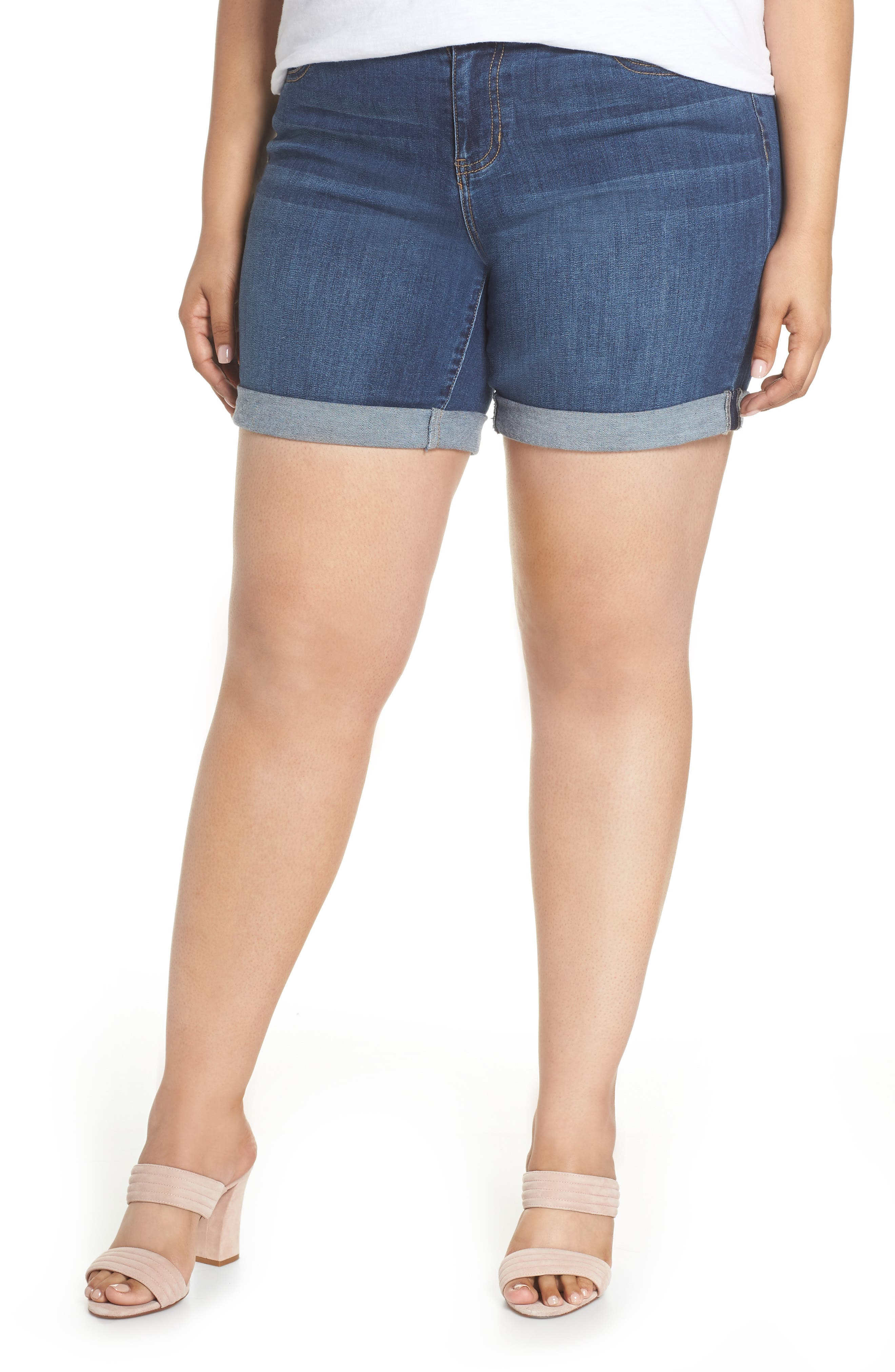 Liverpool Jeans Company Corine Denim Shorts (Plus Size)