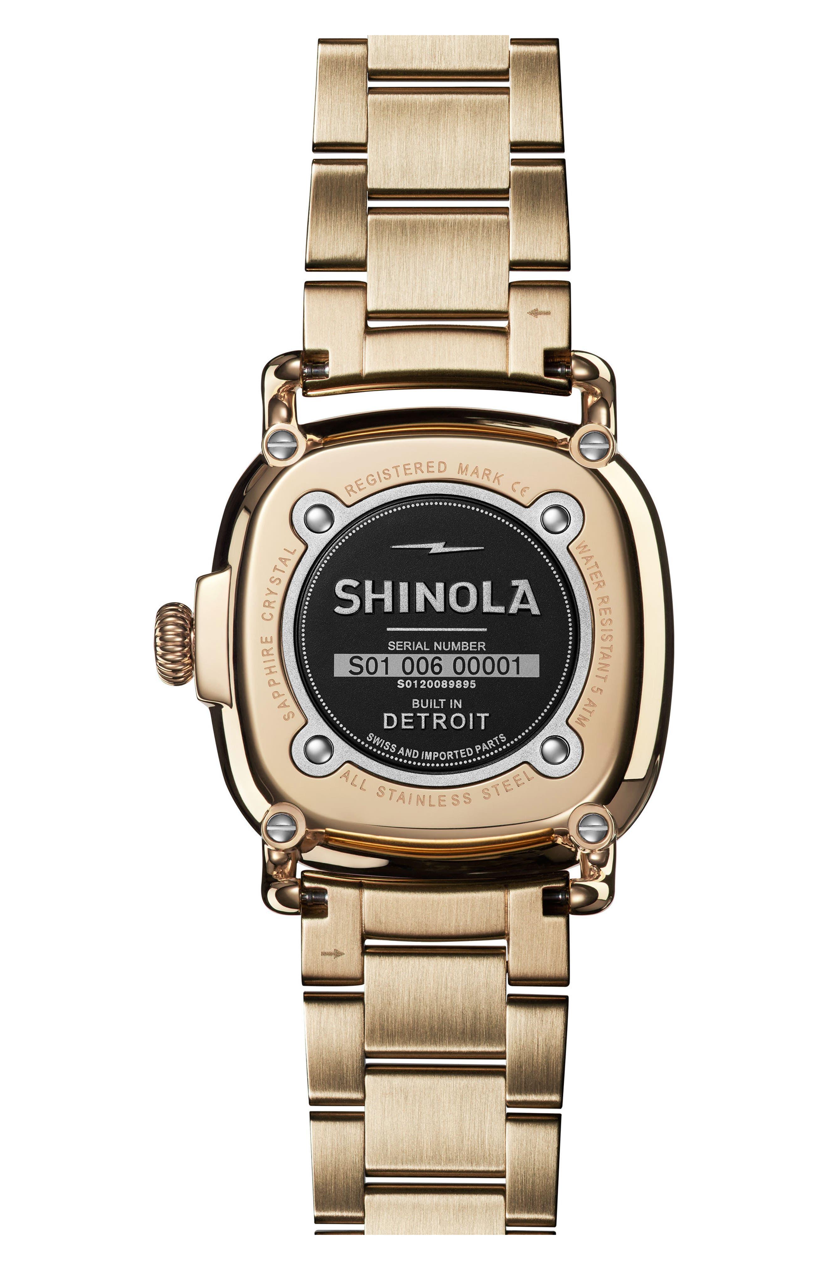 The Guardian Bracelet Watch, 36mm,                             Alternate thumbnail 2, color,                             Gold/ White/ Gold