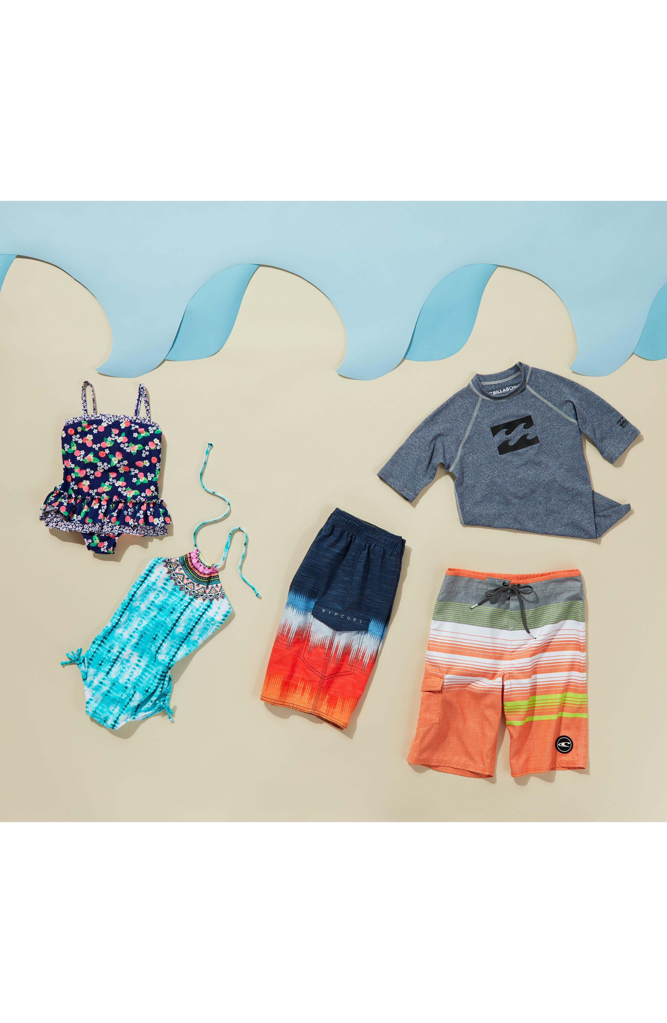 Stripe Board Shorts,                             Alternate thumbnail 3, color,                             Orange