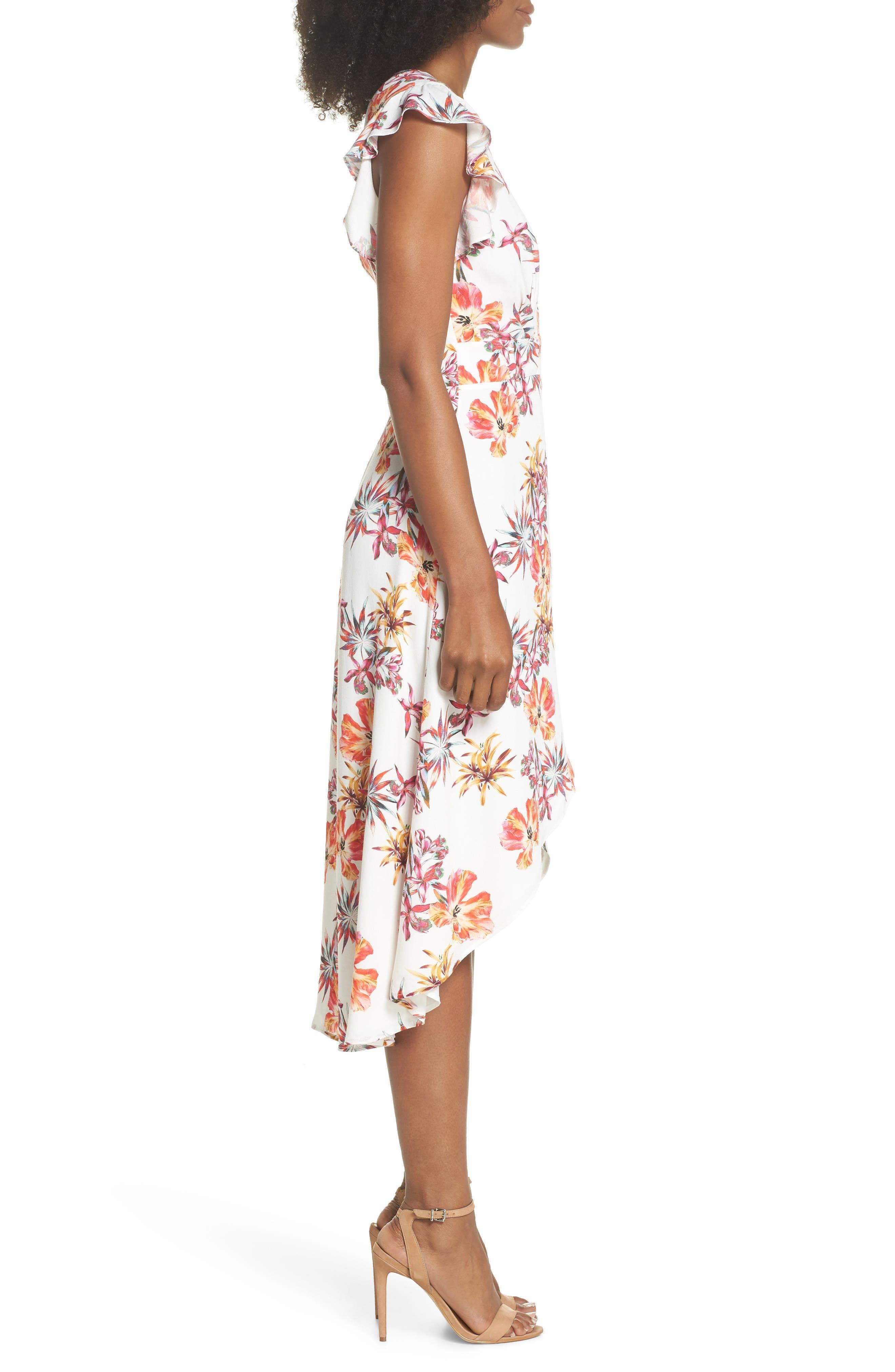Alternate Image 3  - Adelyn Rae Eloise High/Low Wrap Dress