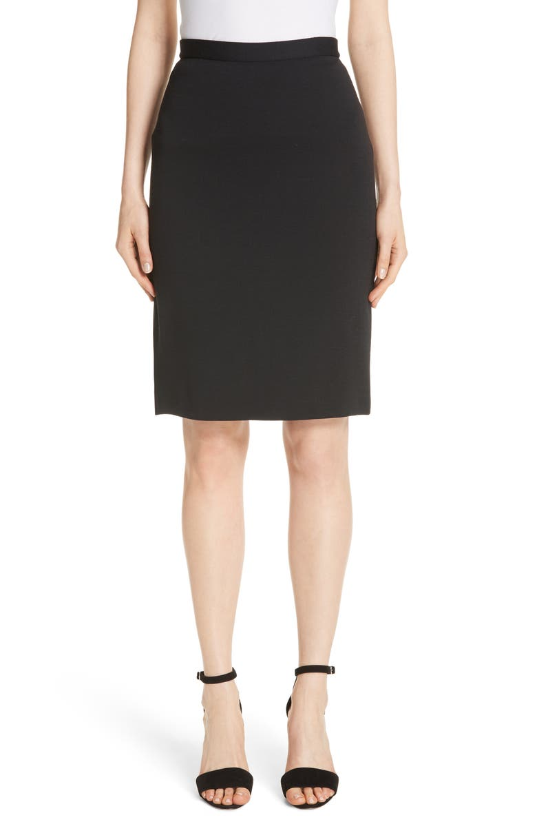 Milano Wool Blend Pencil Skirt