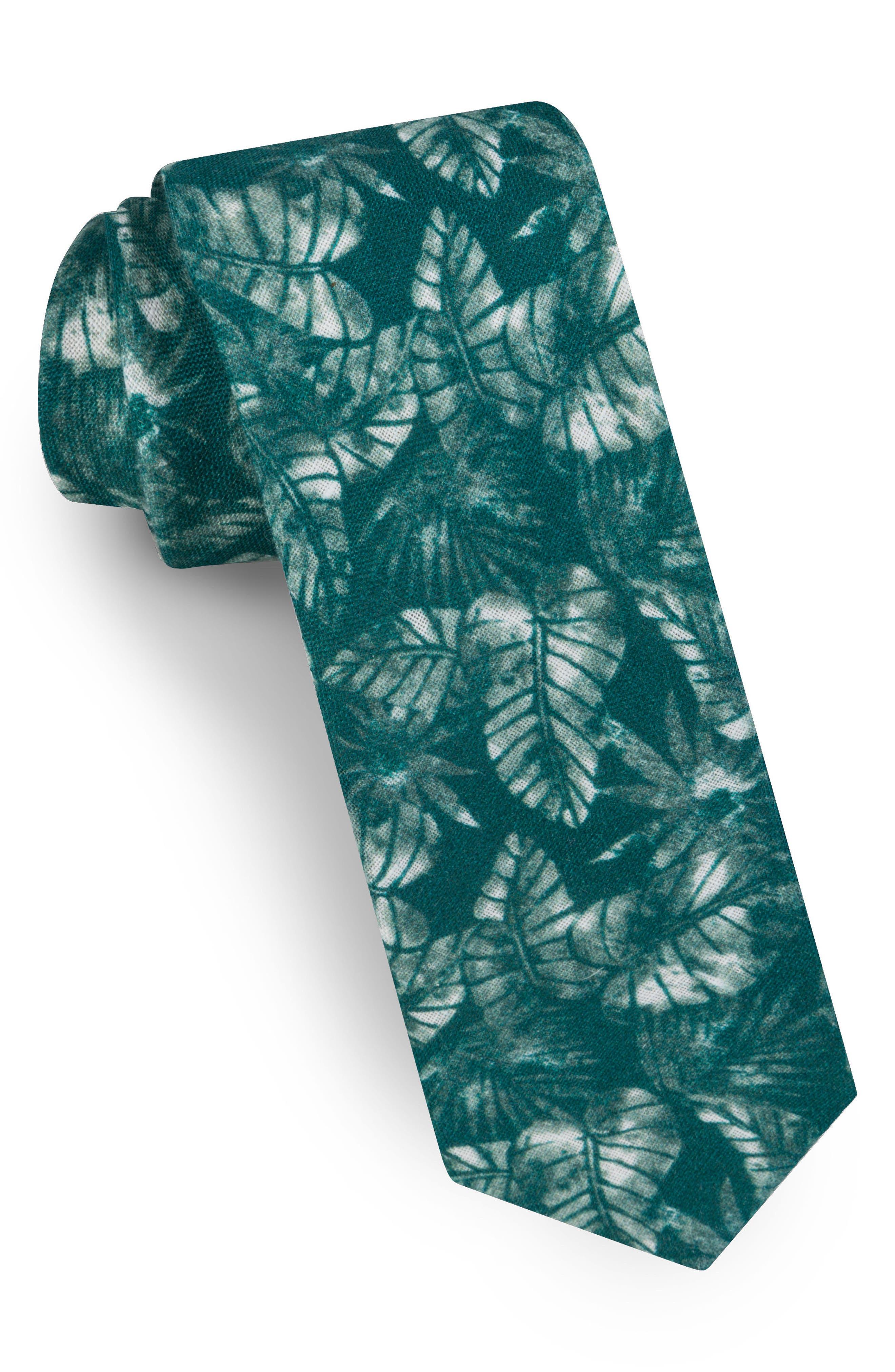 Alternate Image 1 Selected - Ted Baker London Palm Leaf Silk Tie