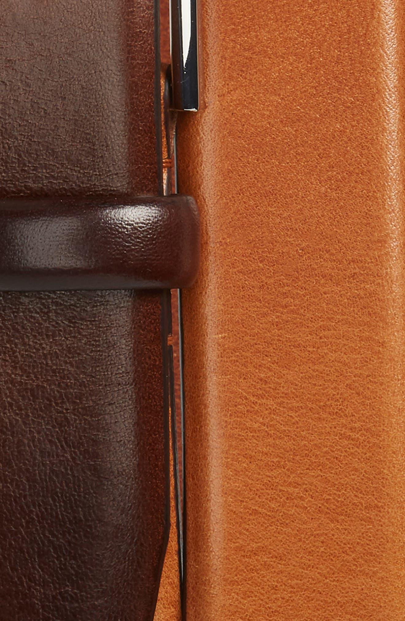 Chuck Leather Belt,                             Alternate thumbnail 2, color,                             Medium Brown