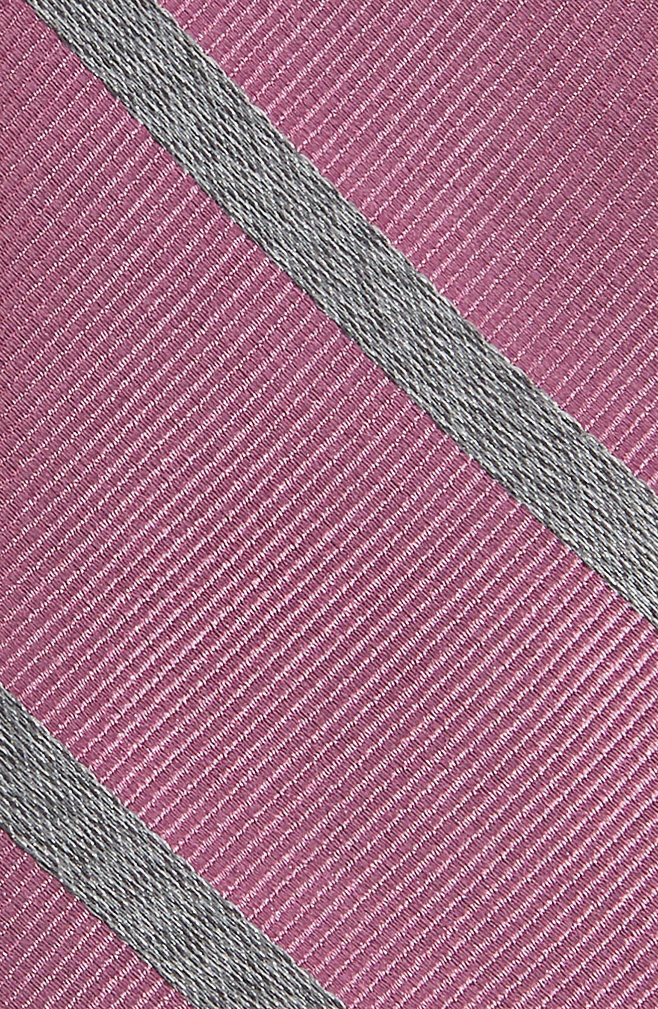 Wheelhouse Stripe Silk Tie,                             Alternate thumbnail 2, color,                             Dusty Rose