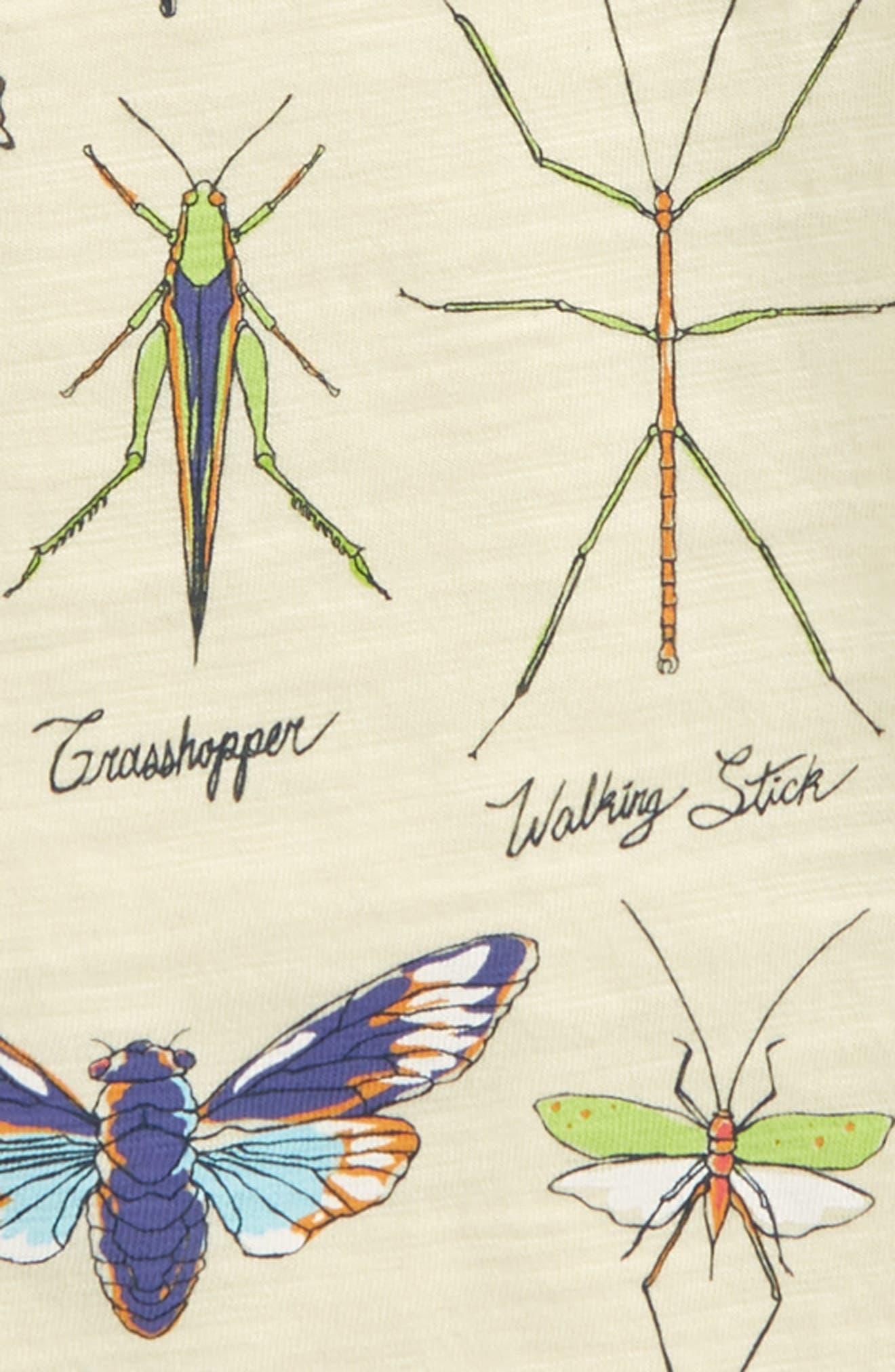Bug Diagram Graphic Tee,                             Alternate thumbnail 2, color,                             Light Yellow